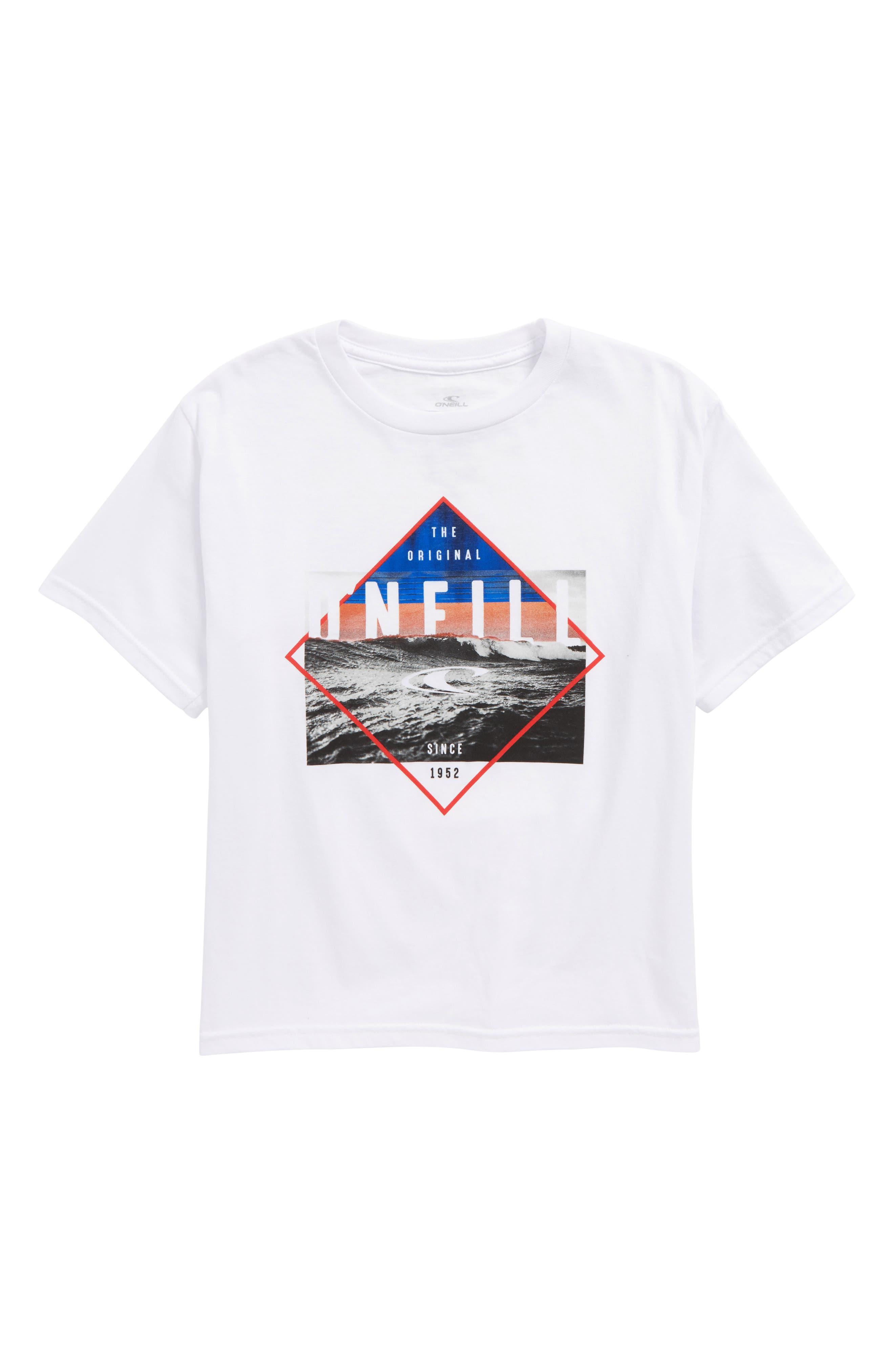 Alternate Image 1 Selected - O'Neill Black Pool Logo T-Shirt (Big Boys)