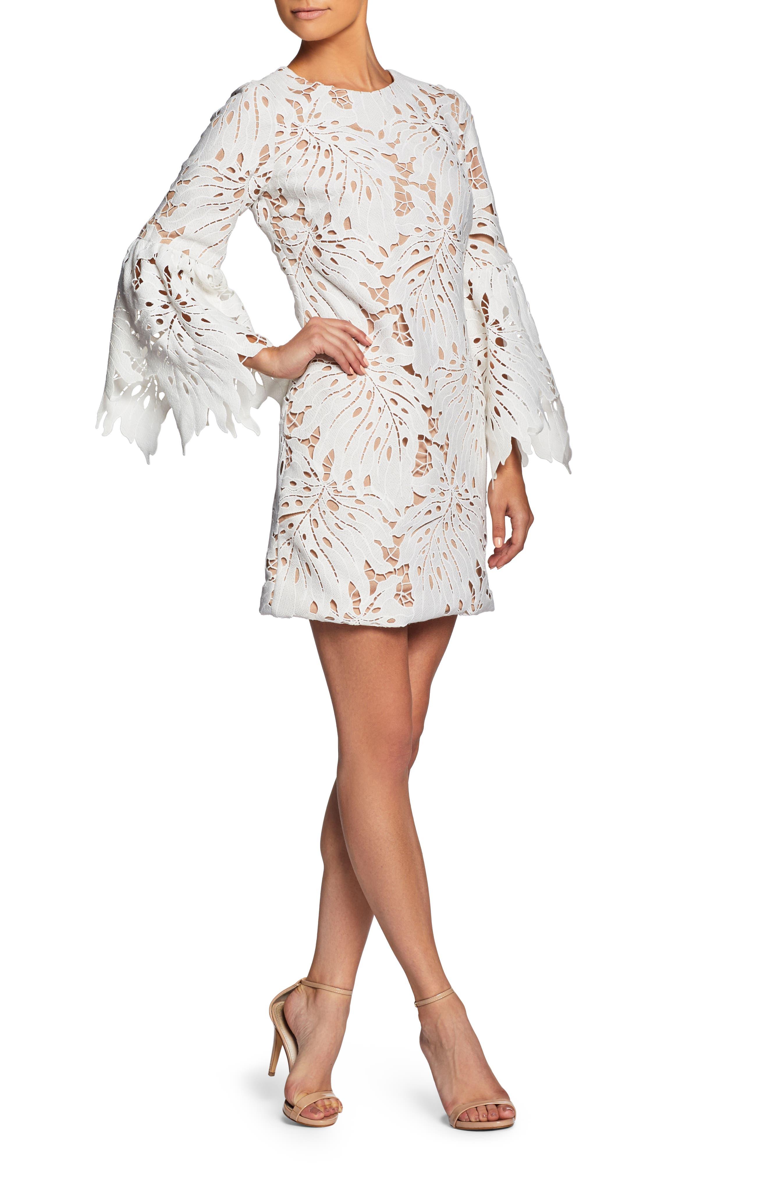 Alternate Image 4  - Dress the Population Dylan Crochet Shift Dress