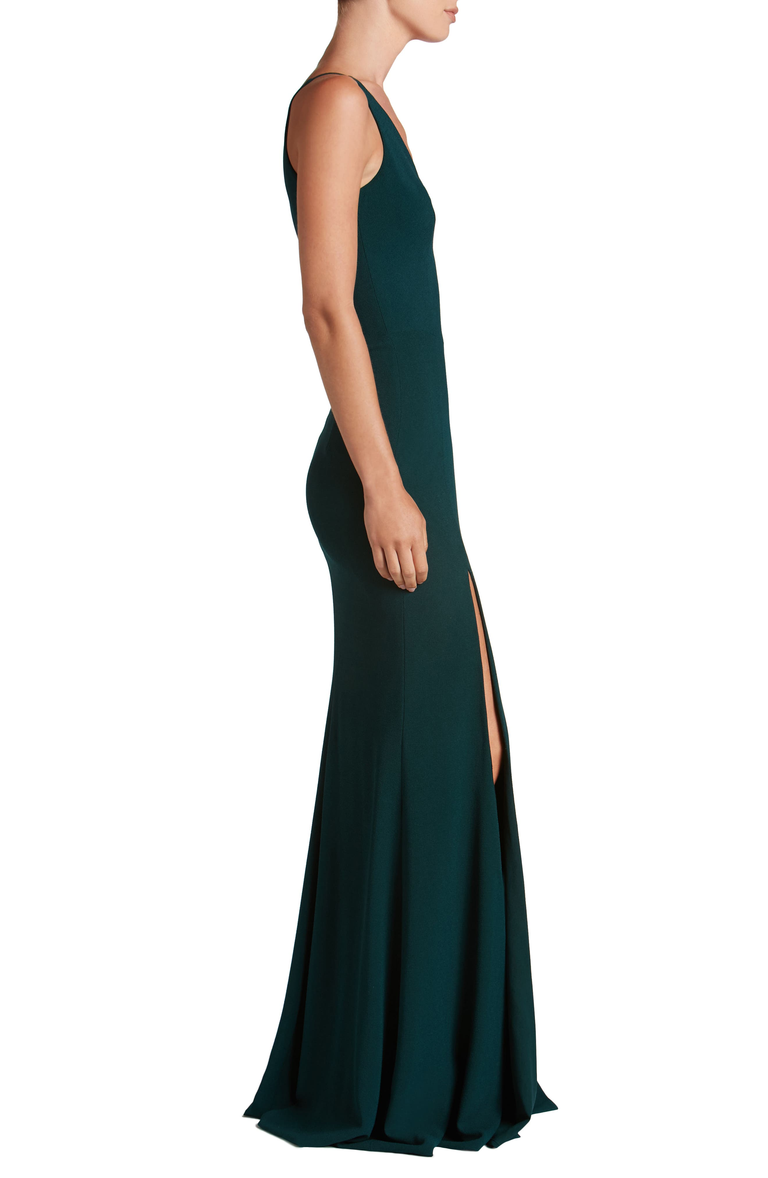 Alternate Image 3  - Dress the Population Iris Slit Crepe Gown