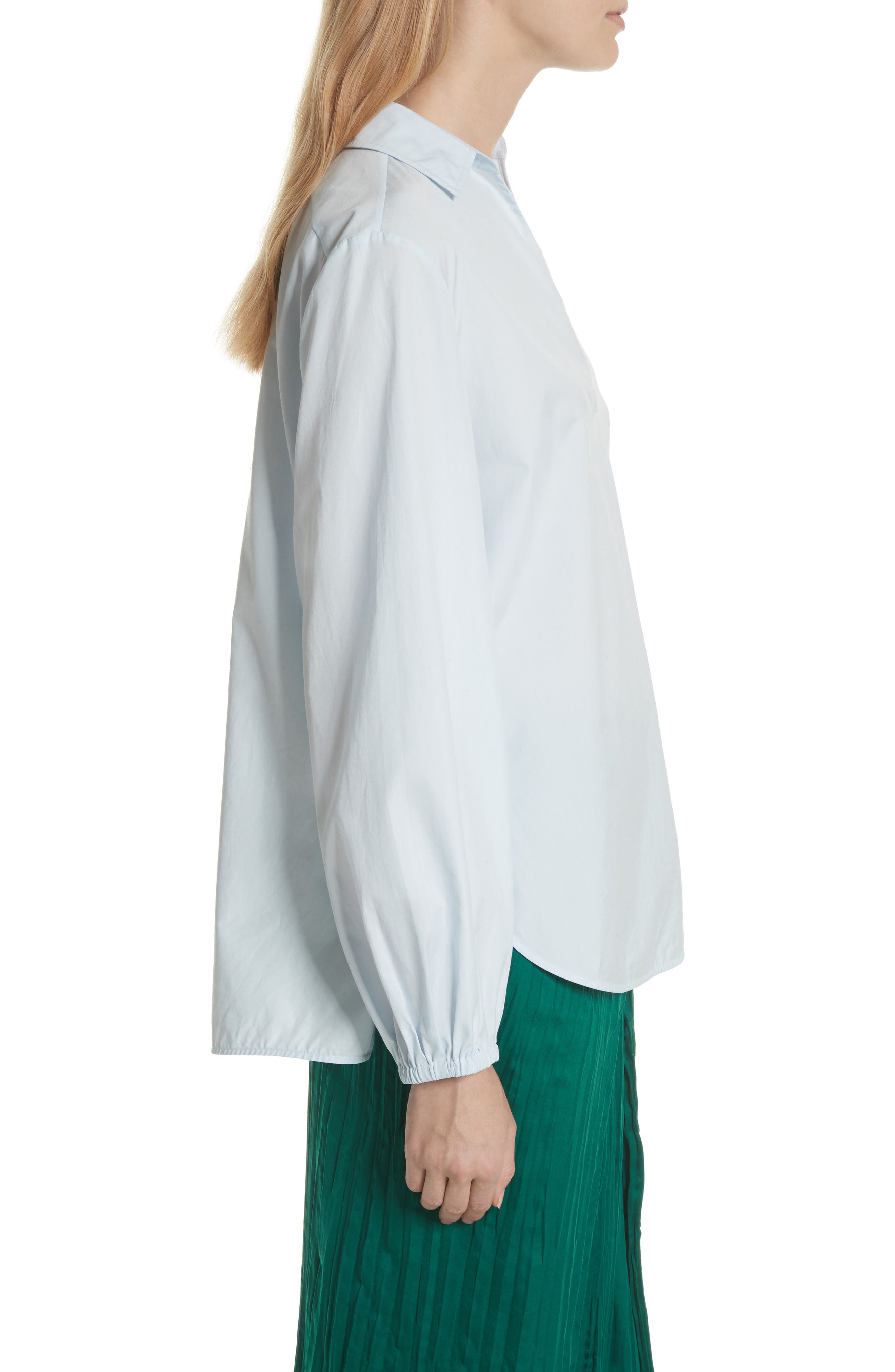 Swing Front Pullover Shirt,                             Alternate thumbnail 3, color,                             Powder Blue