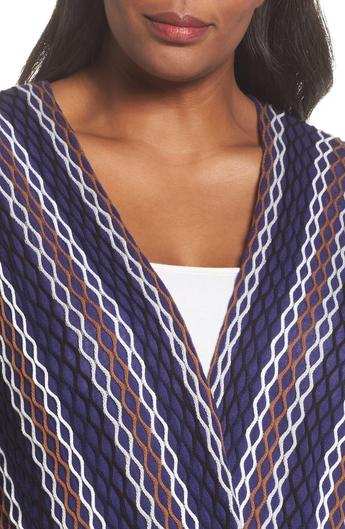 Alternate Image 4  - NIC+ZOE Squiggled Up Four Way Cardigan (Plus Size)