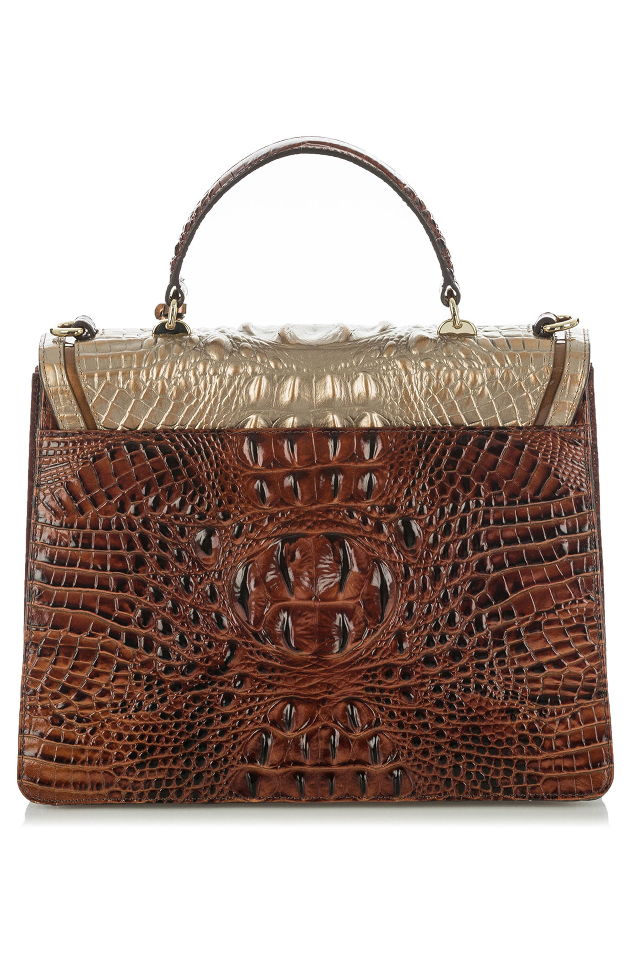 Gabriella Croc-Embossed Leather Satchel,                             Alternate thumbnail 2, color,                             Rose Gold