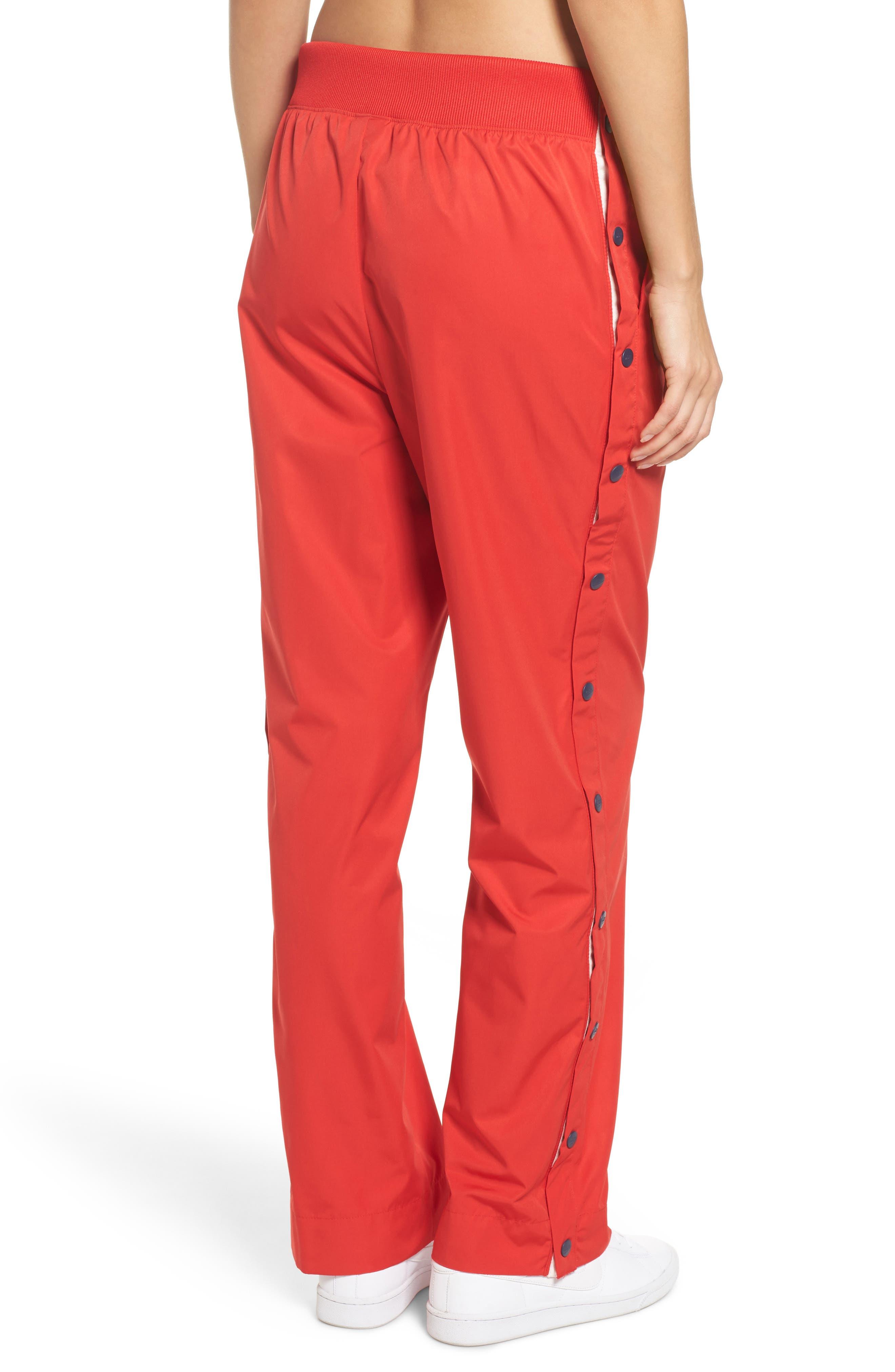 Sportswear Archive Snap Track Pants,                             Alternate thumbnail 2, color,                             University Red/ Thunder Blue