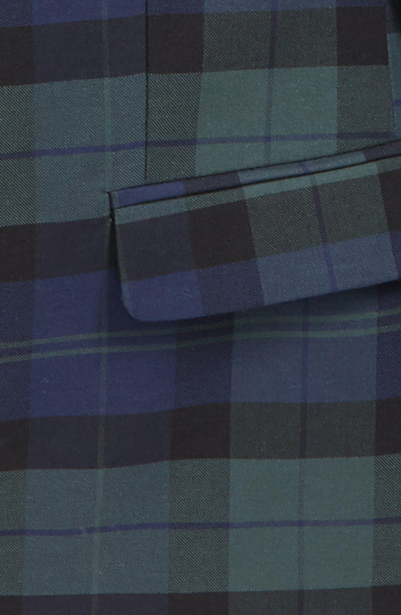 Holiday Tartan Plaid Blazer,                             Alternate thumbnail 2, color,                             Baltic Blue