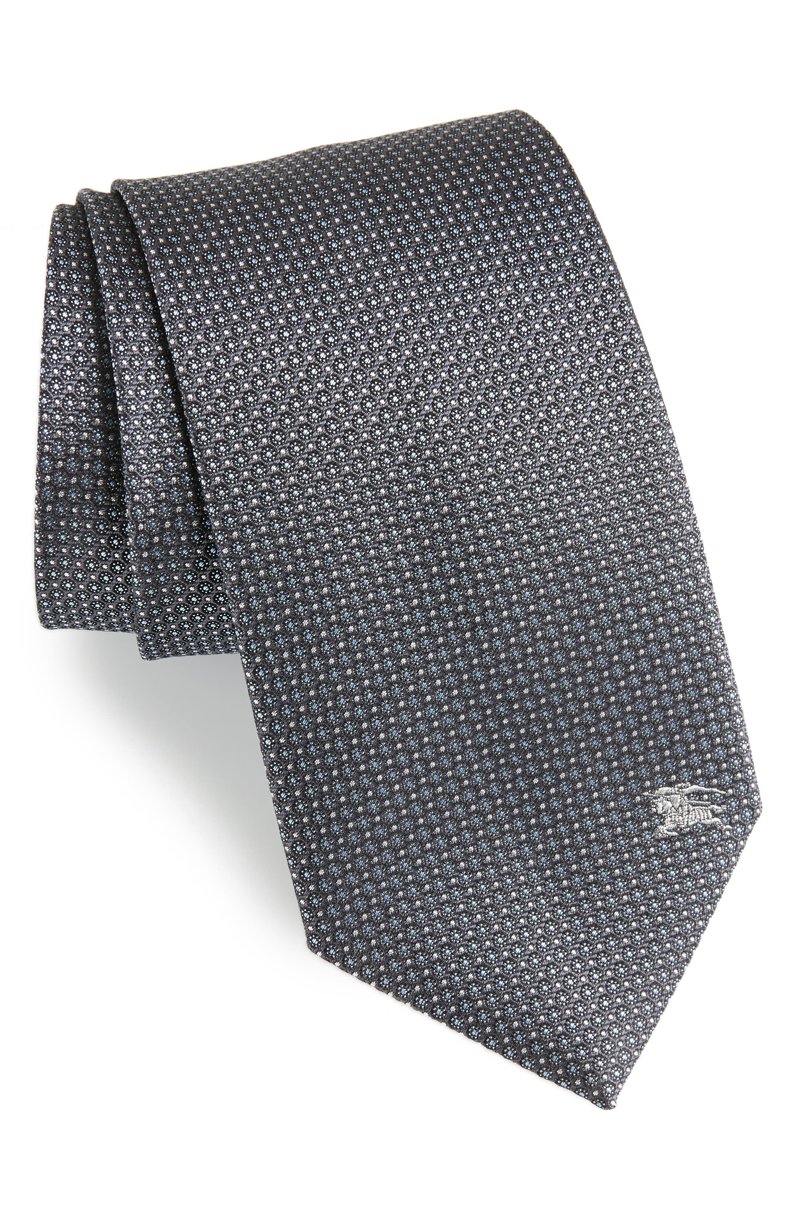 Clinton Silk Tie,                             Main thumbnail 1, color,                             Charcoal