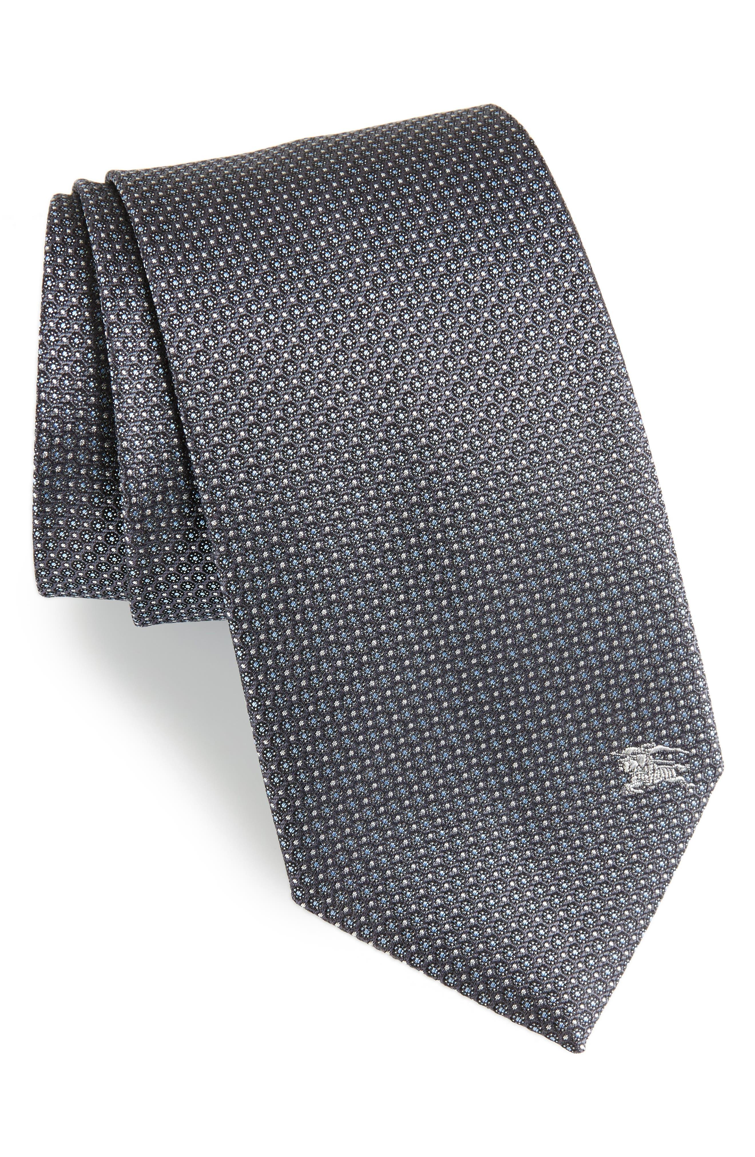Clinton Silk Tie,                         Main,                         color, Charcoal