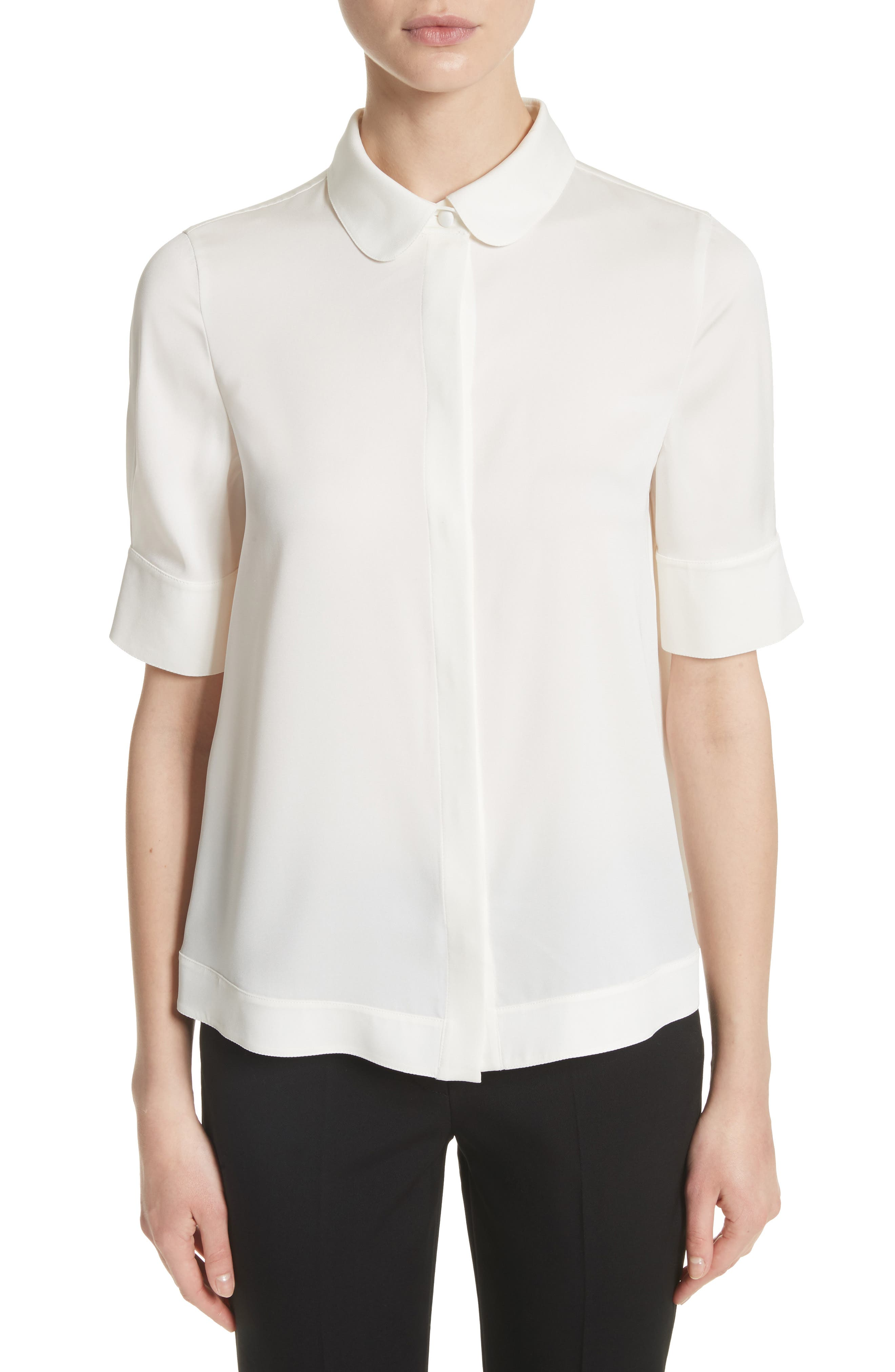 Alternate Image 1 Selected - Emporio Armani Stretch Silk Swing Blouse