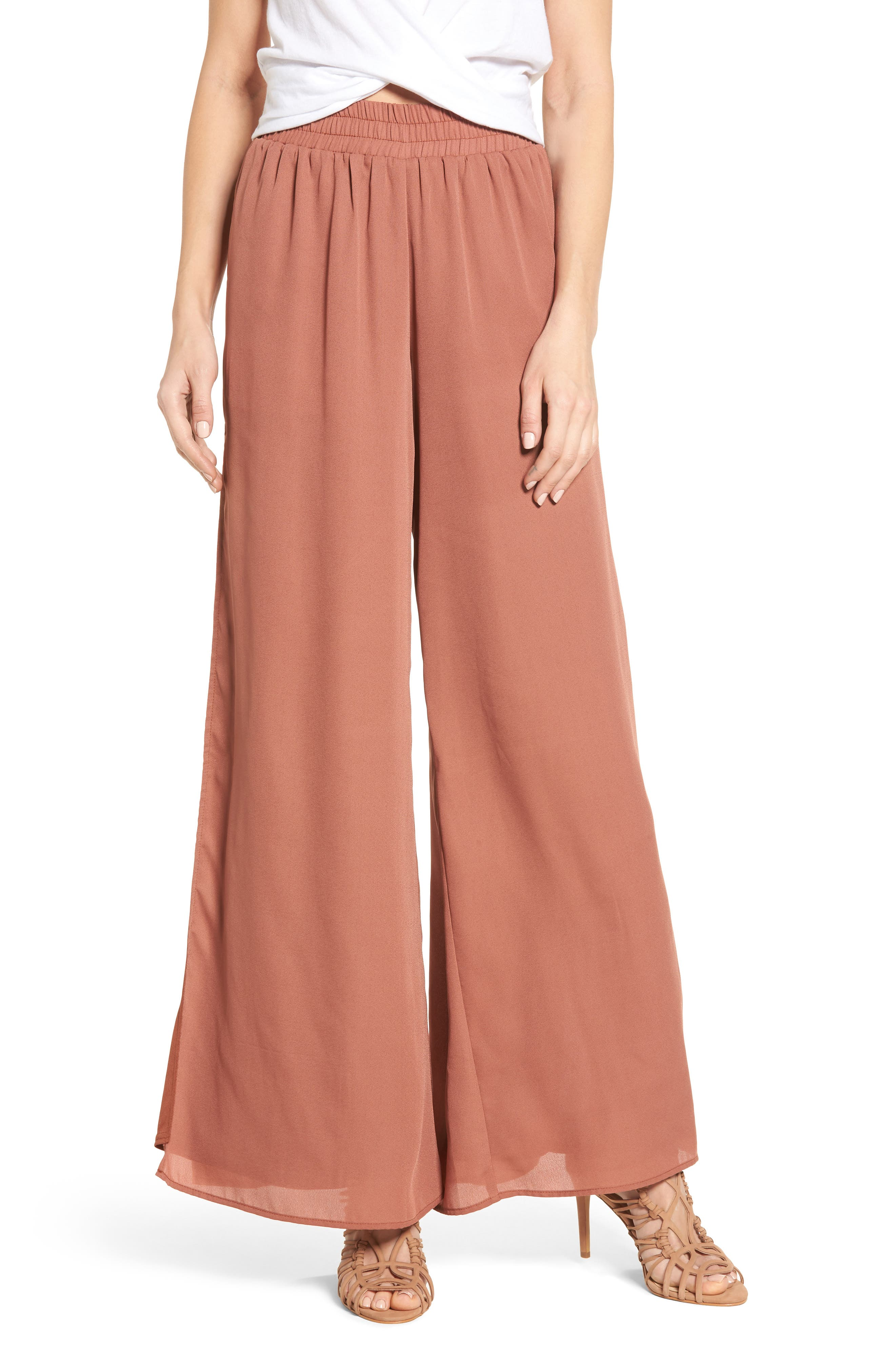4SI3NNA Side Slit Wide Leg Pants