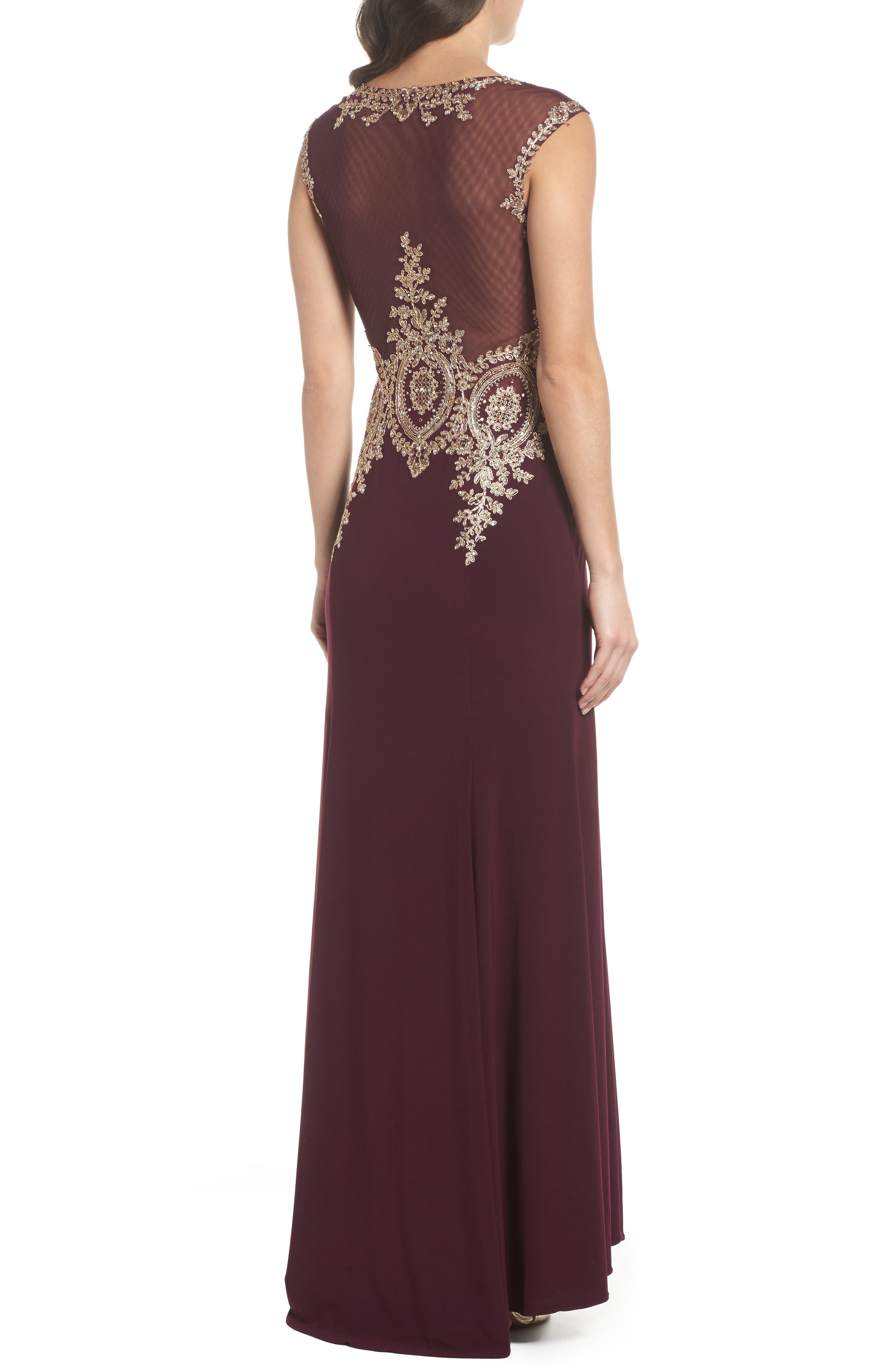 Alternate Image 2  - Xscape Embellished Jersey Gown (Regular & Petite)