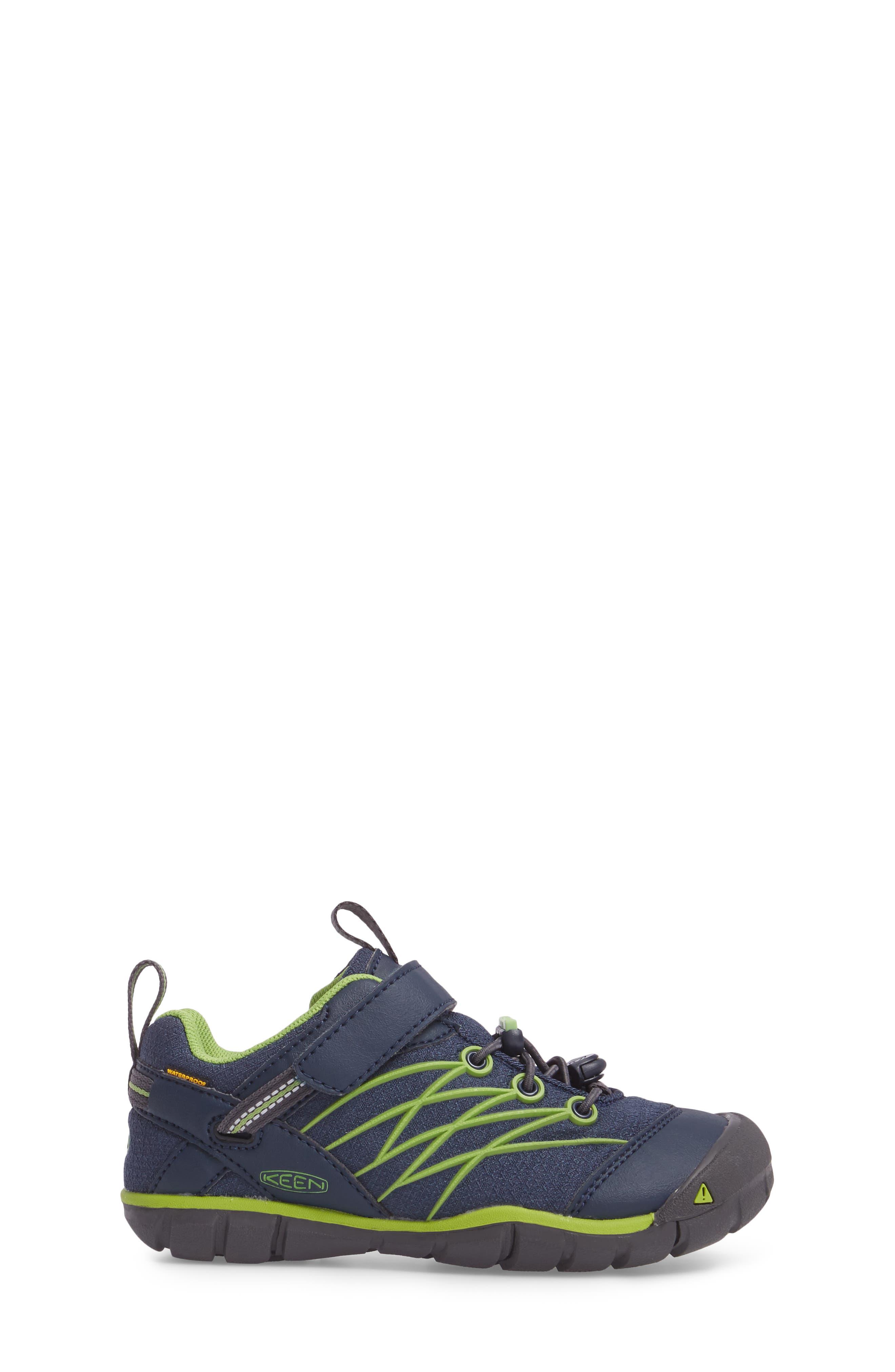 Chandler CNX Waterproof Sneaker,                             Alternate thumbnail 3, color,                             Dress Blues/ Greenery
