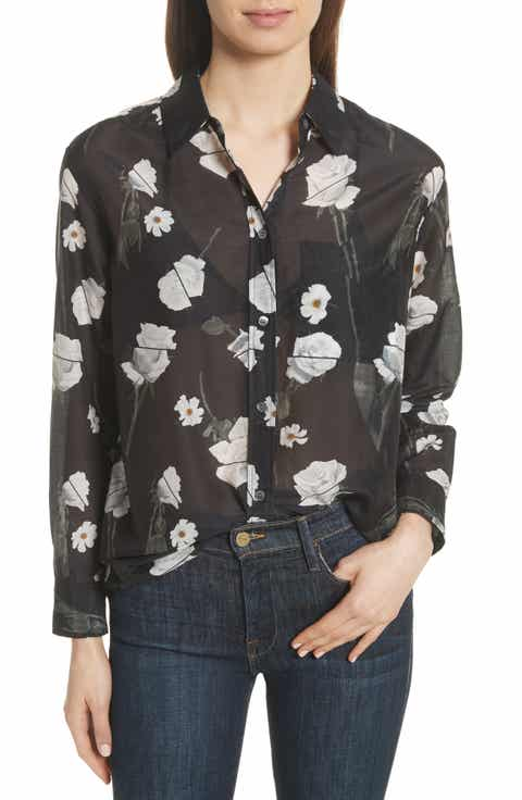 Equipment Daddy Floral Cotton & Silk Shirt