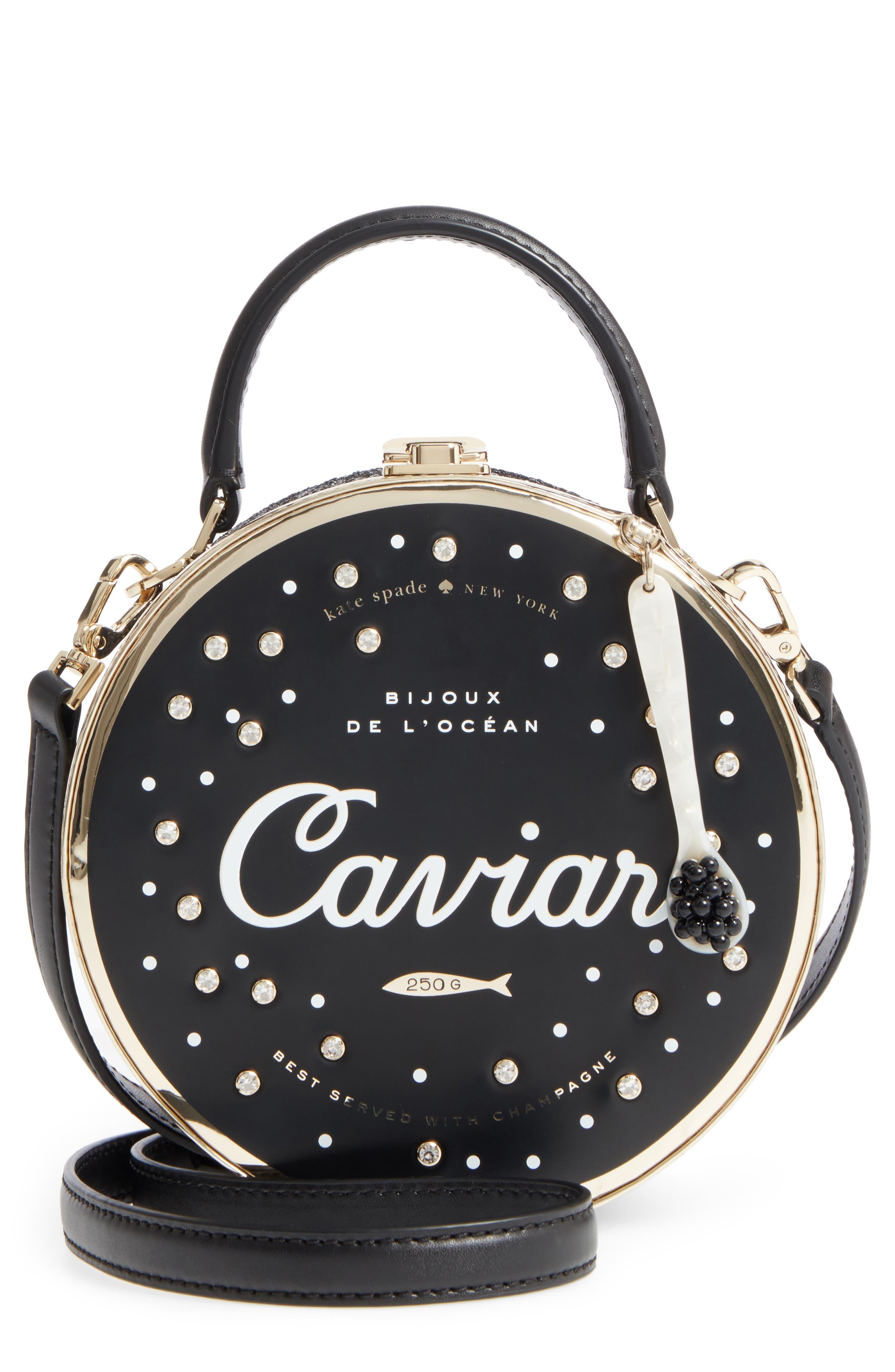 Main Image - kate spade new york finer things caviar frame bag
