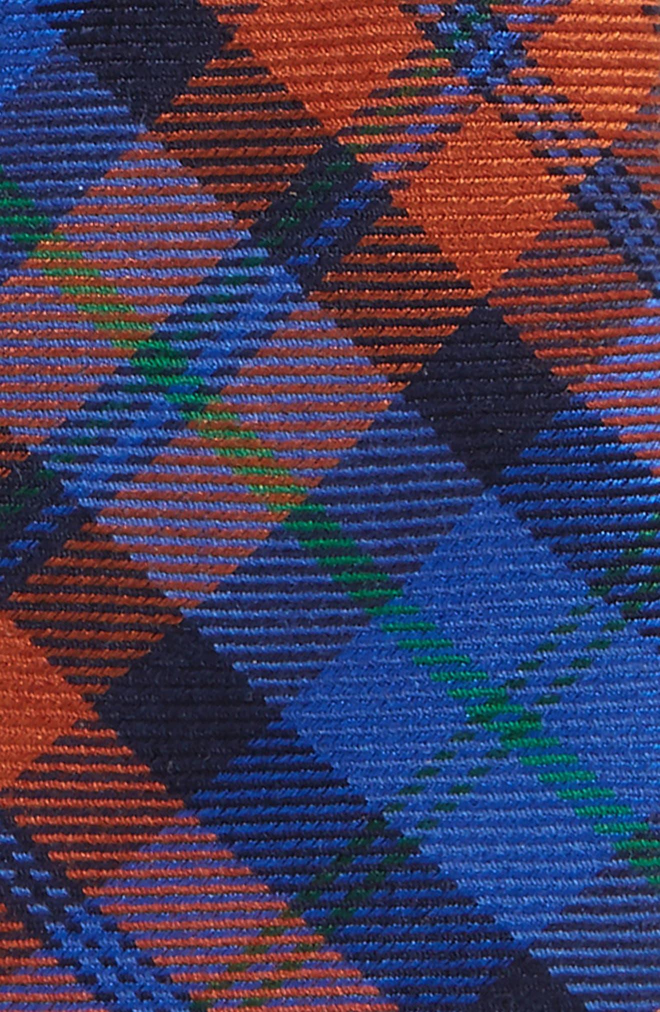 Plaid Wool & Silk Tie,                             Alternate thumbnail 2, color,                             Orange