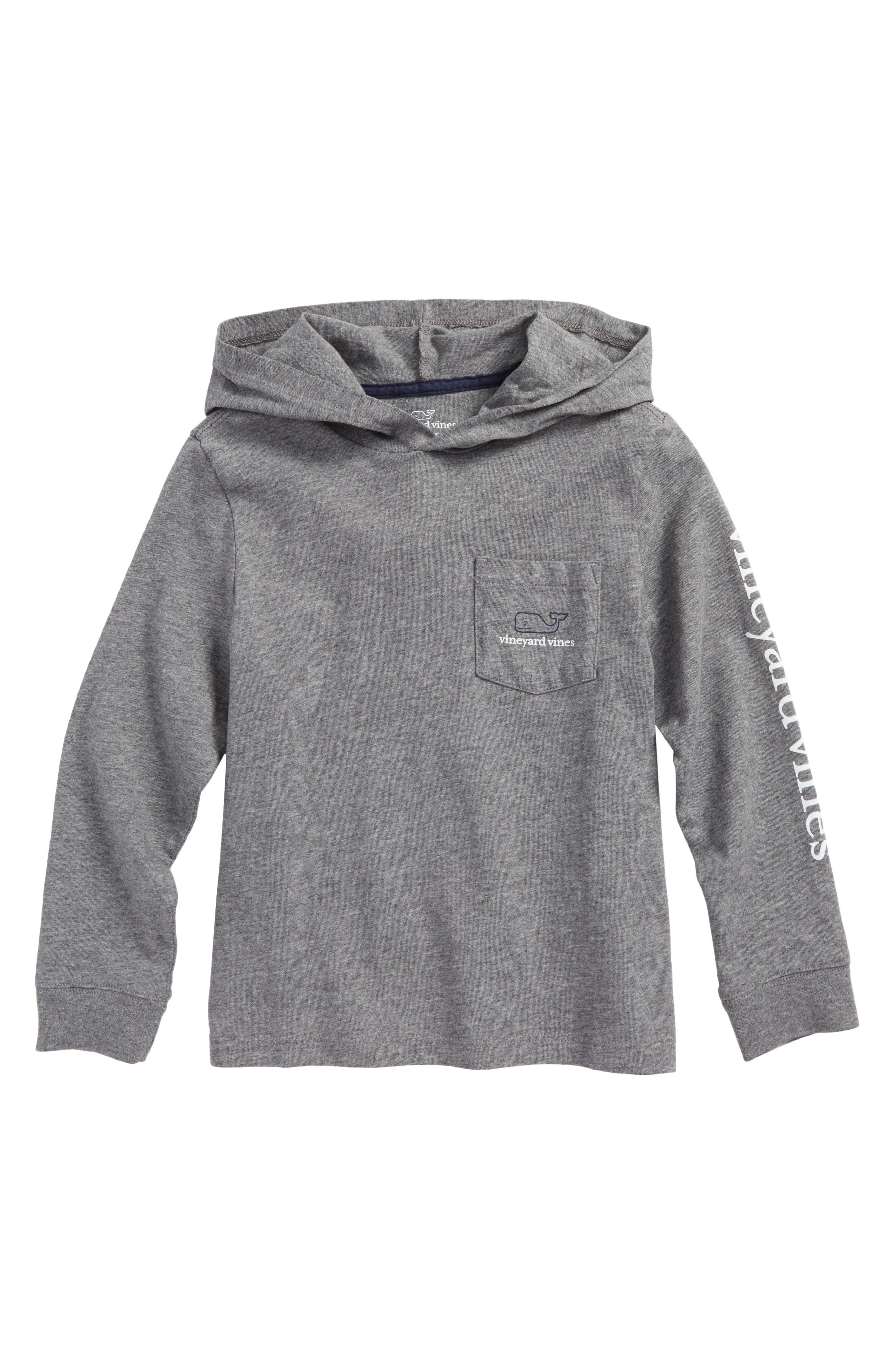 Two-Tone Whale Hooded T-Shirt,                             Main thumbnail 1, color,                             Medium Heather Gray