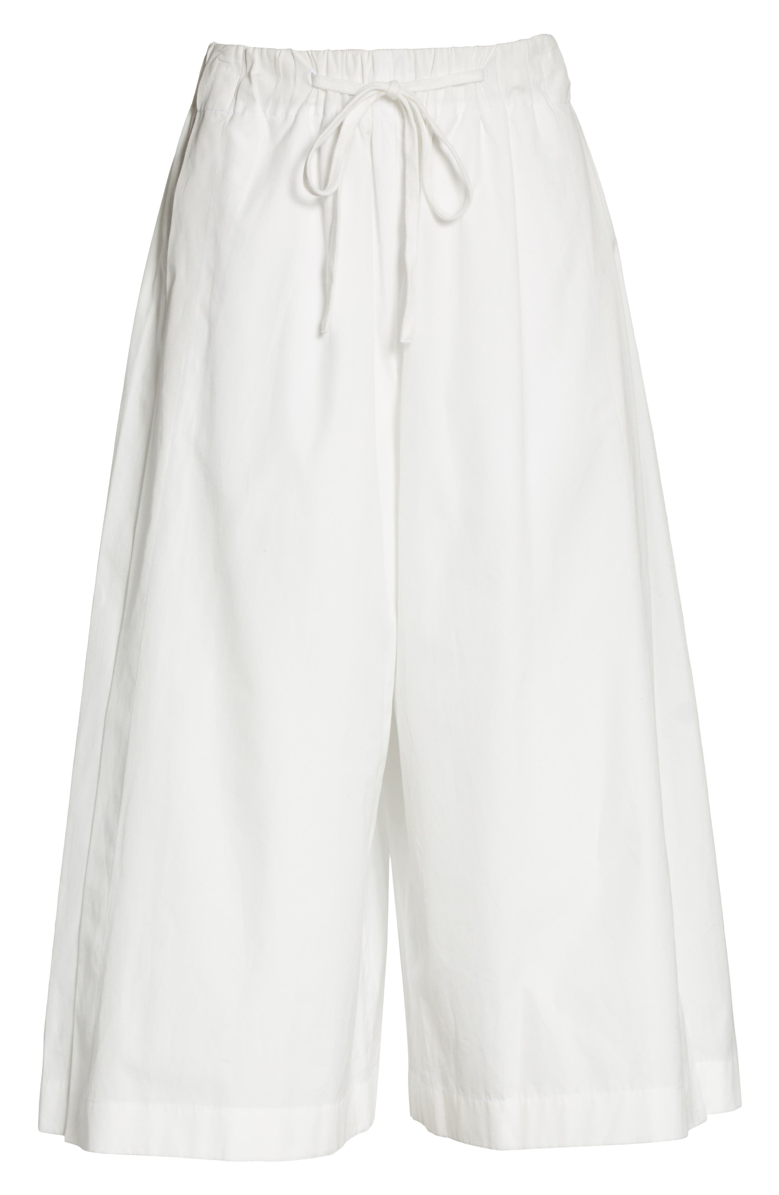 Side Slit Culottes,                             Alternate thumbnail 8, color,                             White