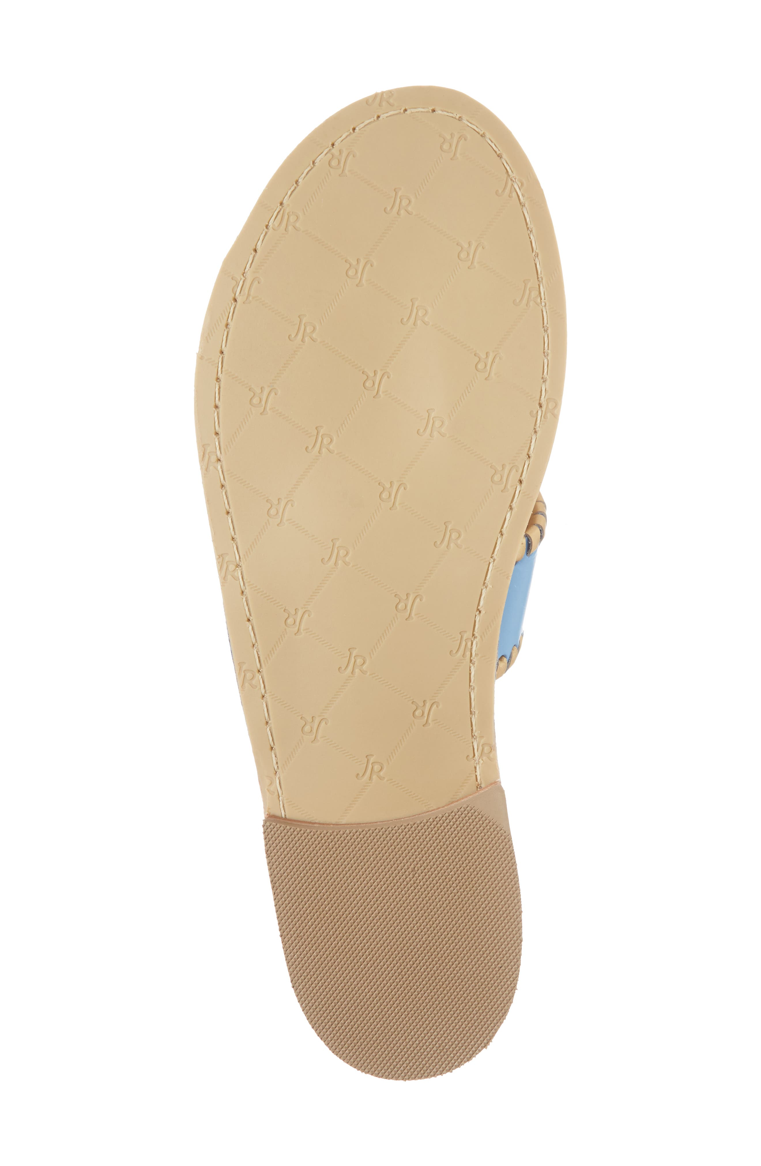 Hollis Flat Sandal,                             Alternate thumbnail 6, color,                             French Blue Leather