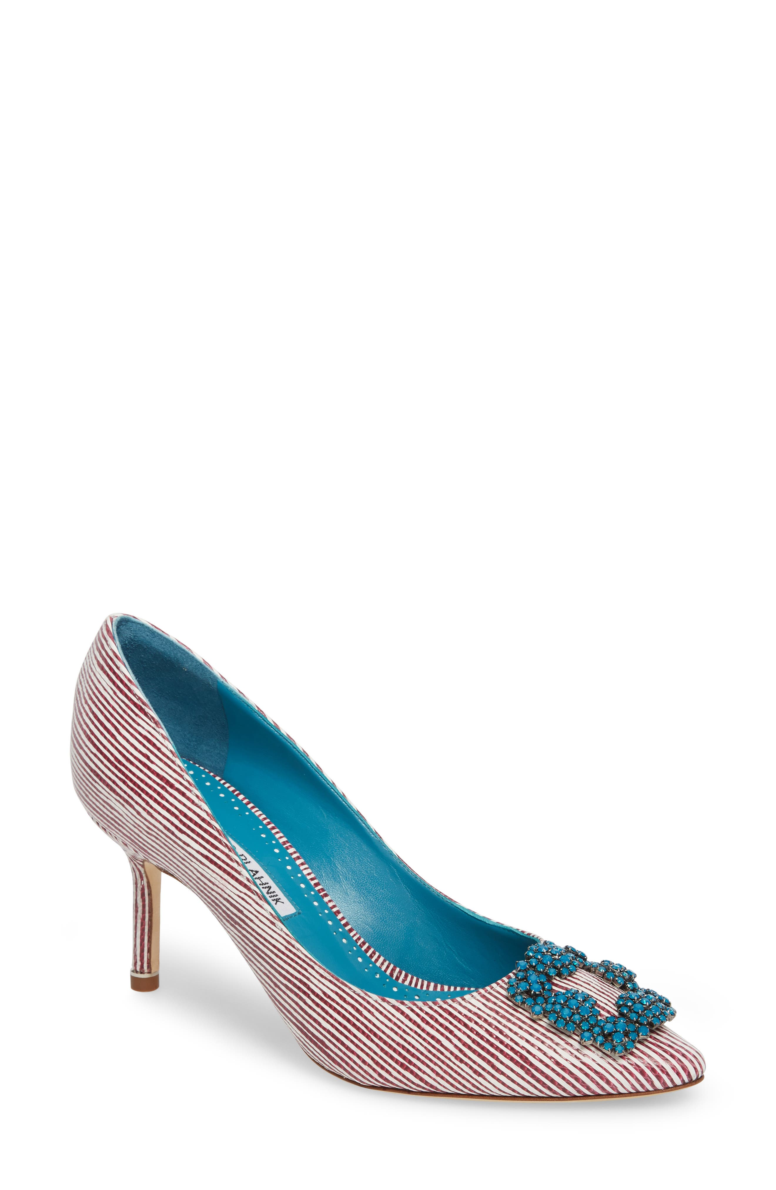 Manolo Blahnik Hangisi Jewel Buckle Pump (Women)