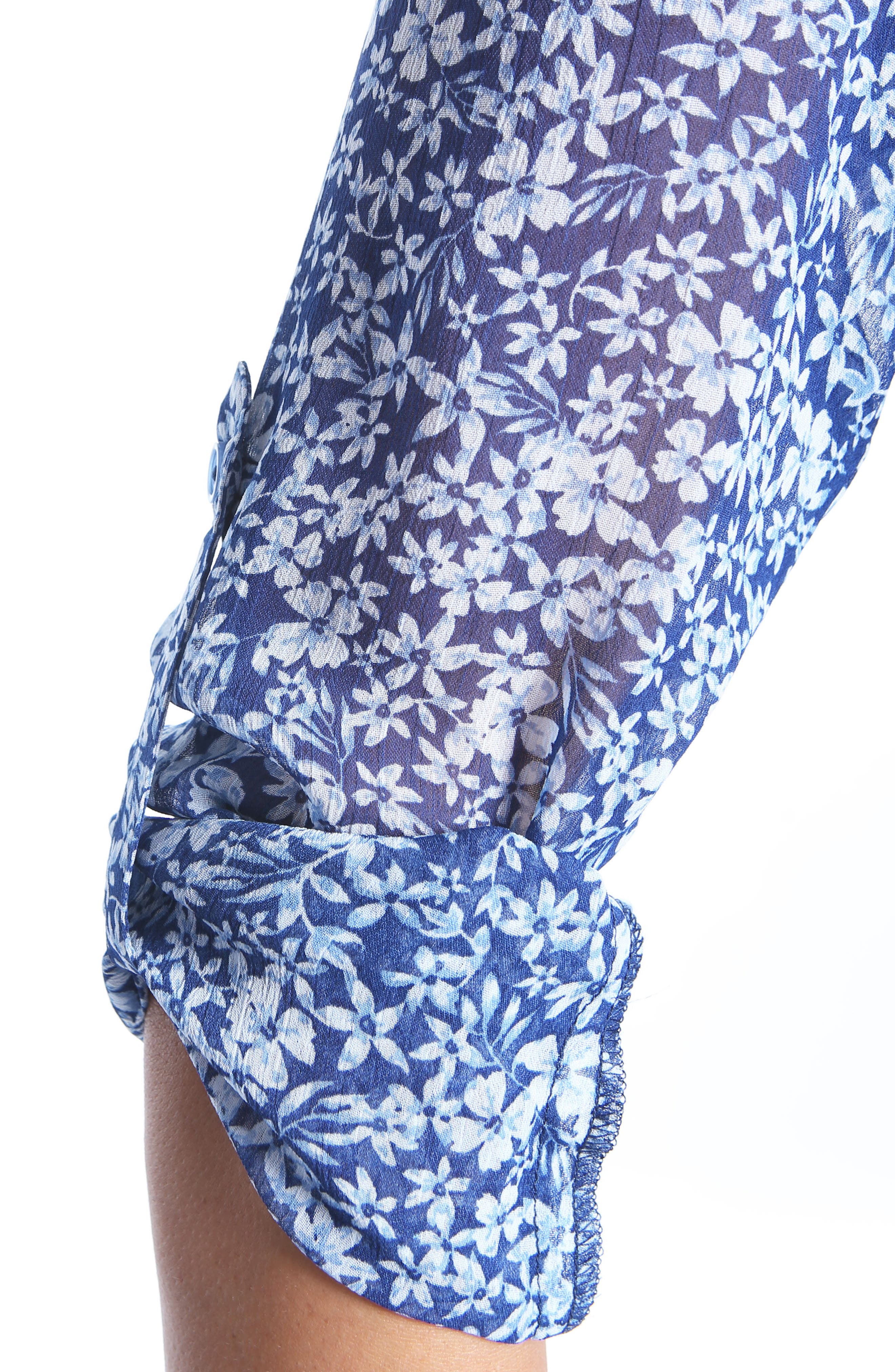 KUT from the the Kloth Jasmine Floral Blouse,                             Alternate thumbnail 5, color,                             Navy