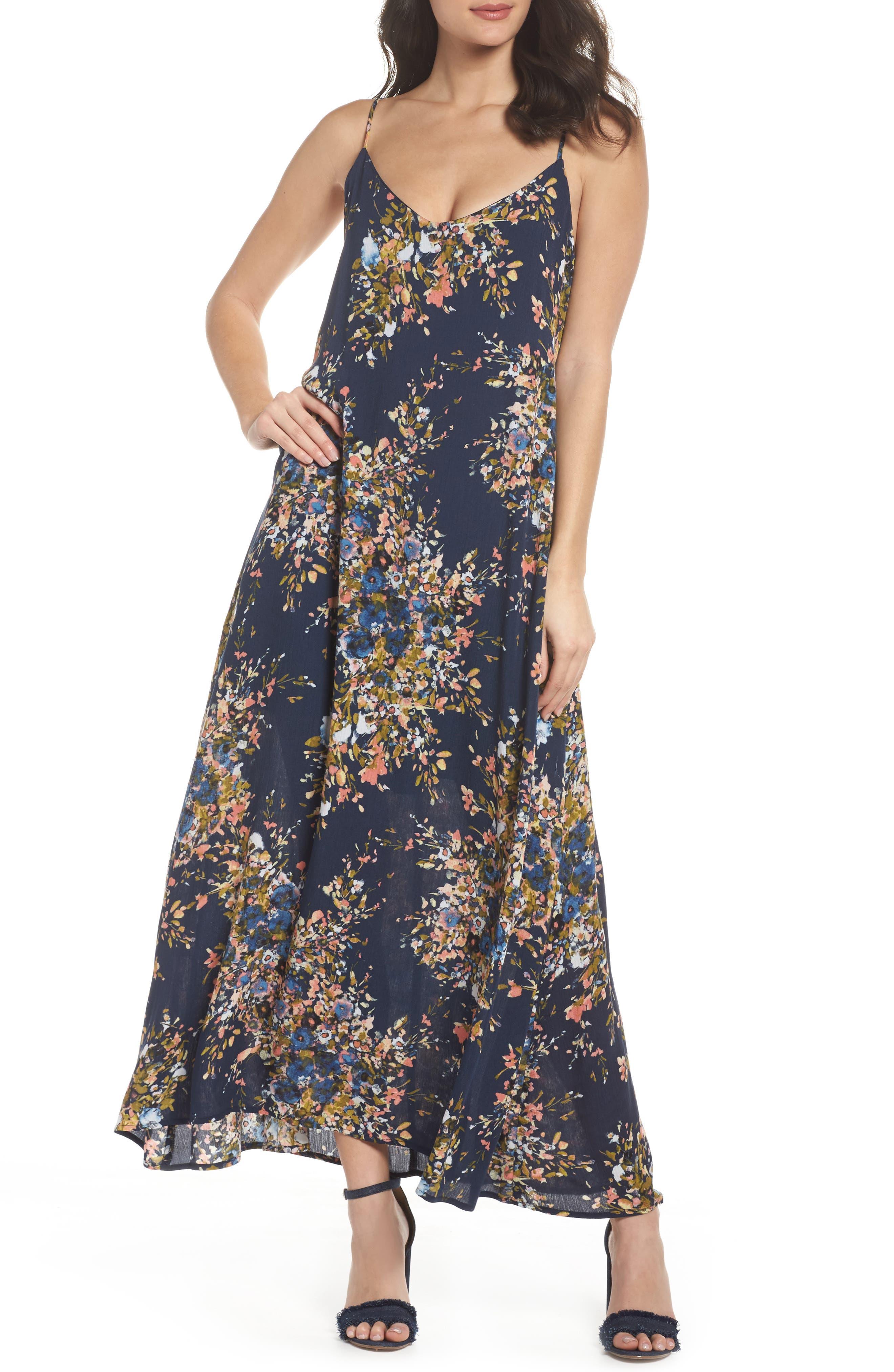 Maxi Dress,                         Main,                         color, Freesia