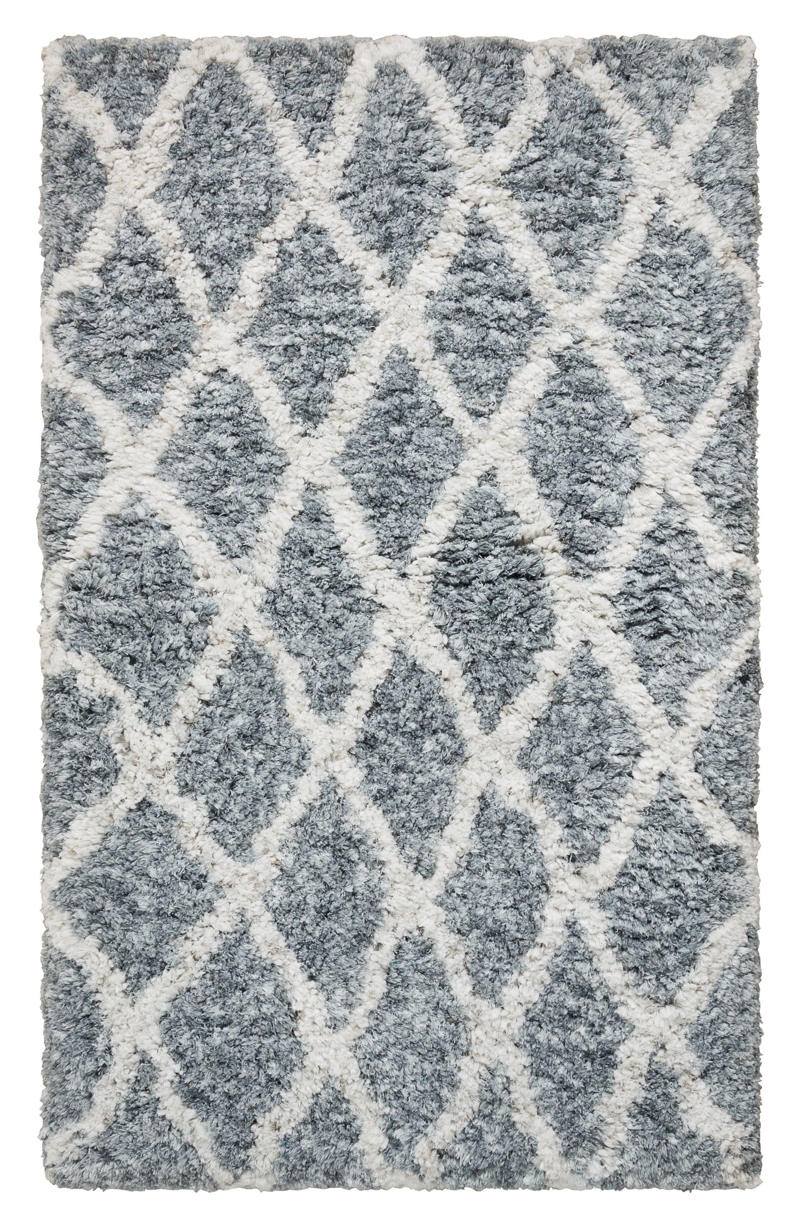 Irregular Diamond Rug,                             Main thumbnail 1, color,                             Grey