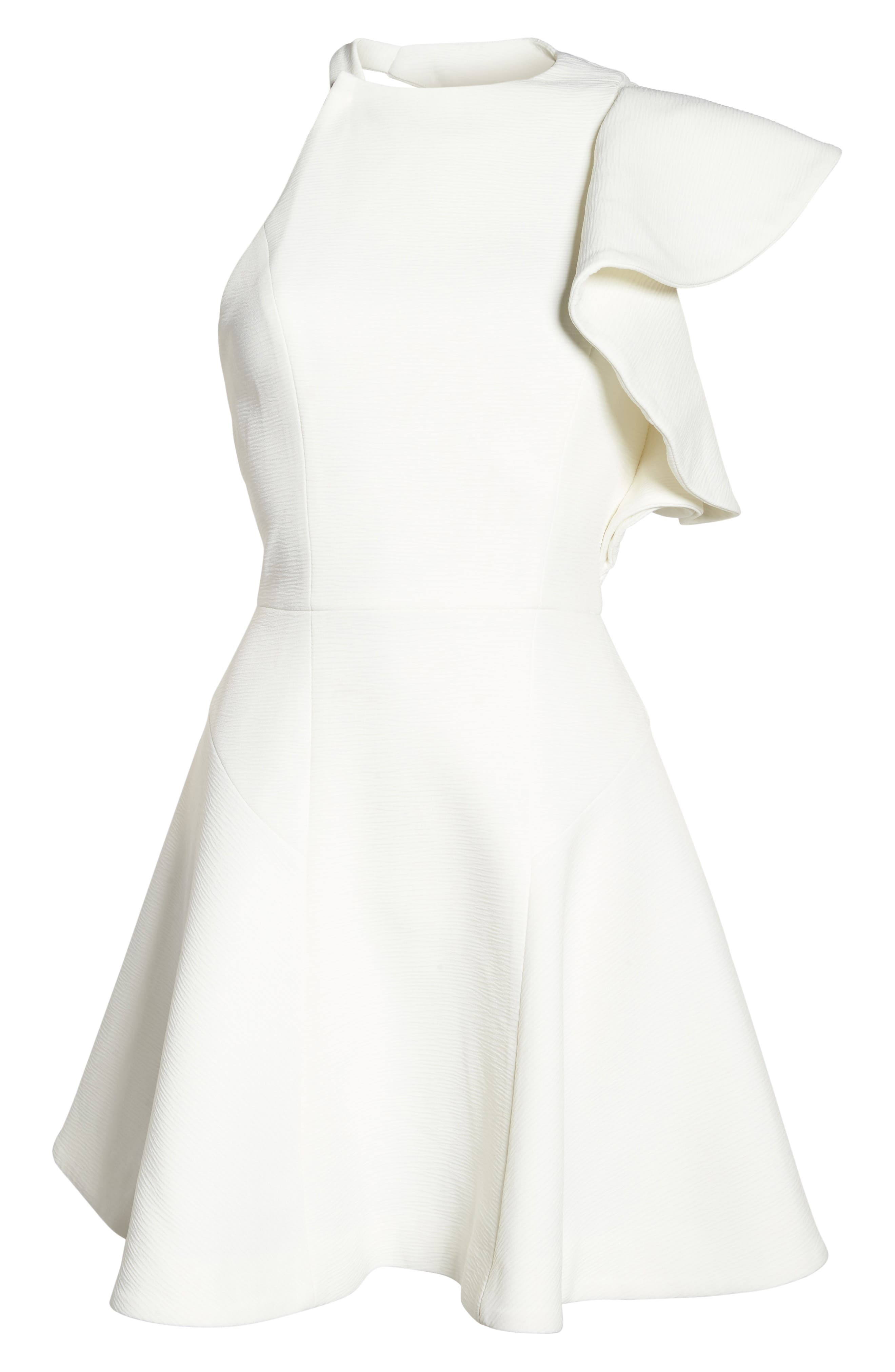 Infinite Ruffle Dress,                             Alternate thumbnail 2, color,                             Ivory