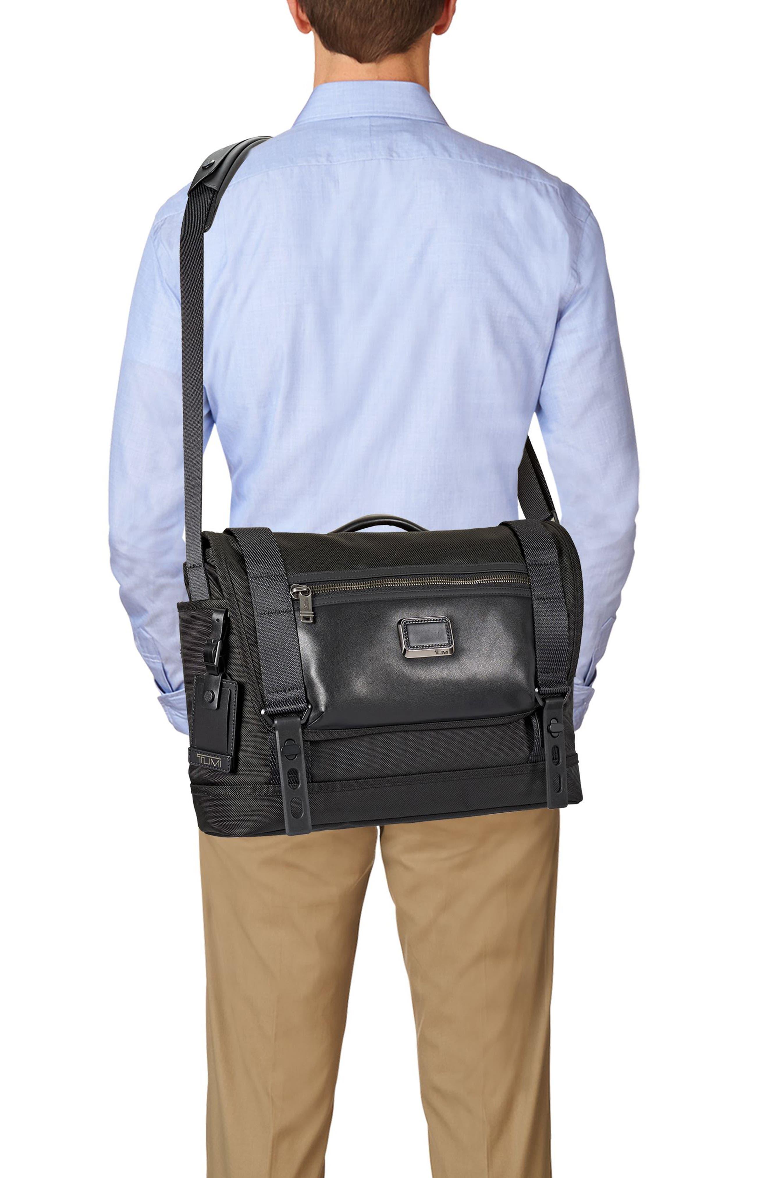 Alpha Bravo - Fallon Messenger Bag,                             Alternate thumbnail 2, color,                             Black
