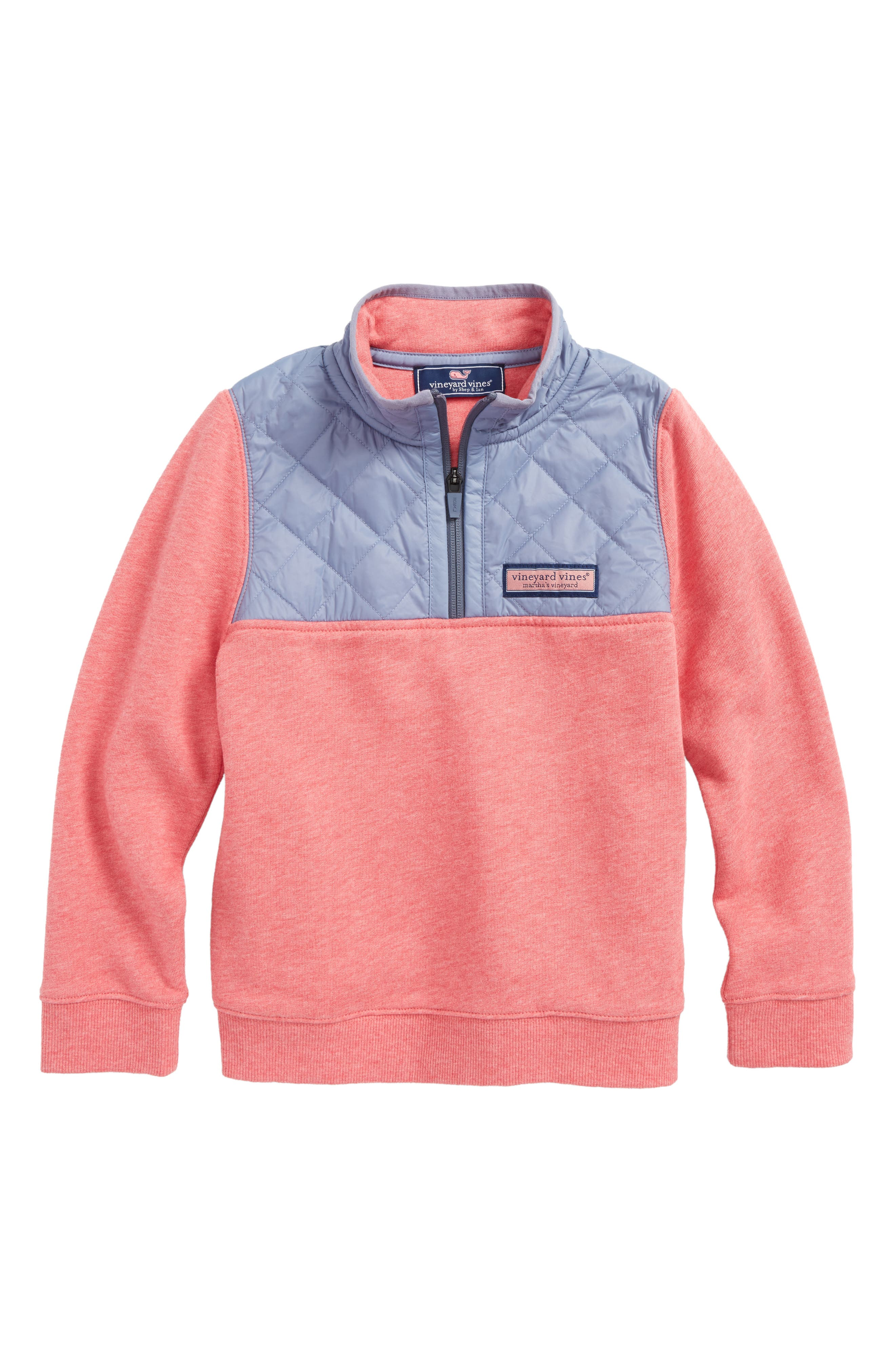 Shep Quilted Quarter Zip Pullover,                         Main,                         color, Jetty Red