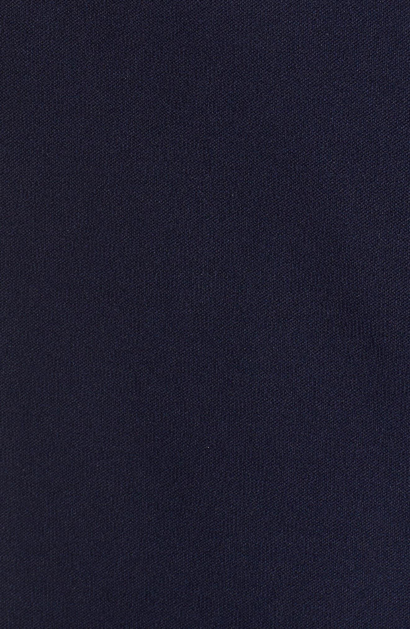 Long Knit Jacket,                             Alternate thumbnail 4, color,                             Midnight