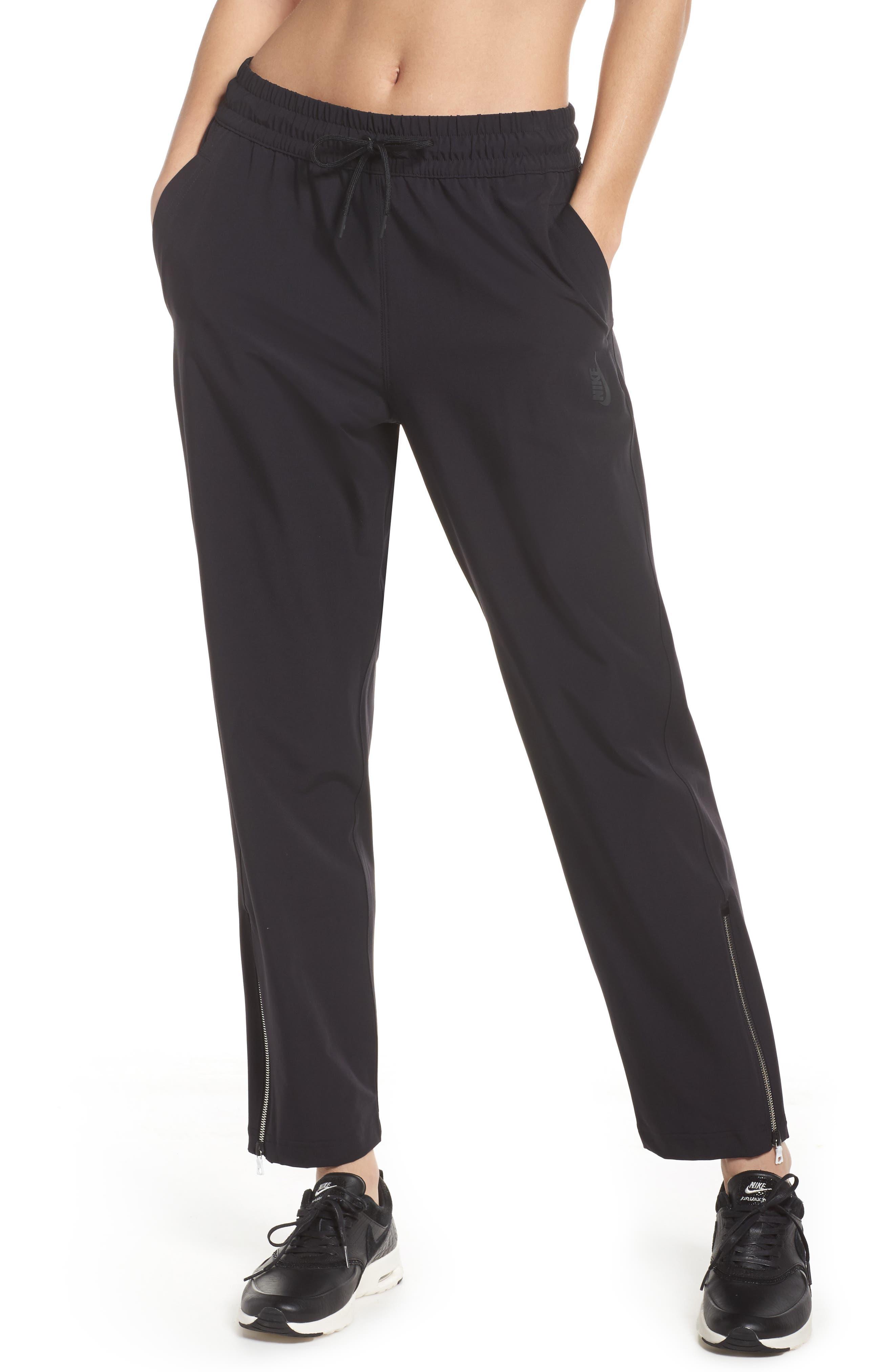 NikeLab Stretch Woven Training Pants,                         Main,                         color, Black/ Black