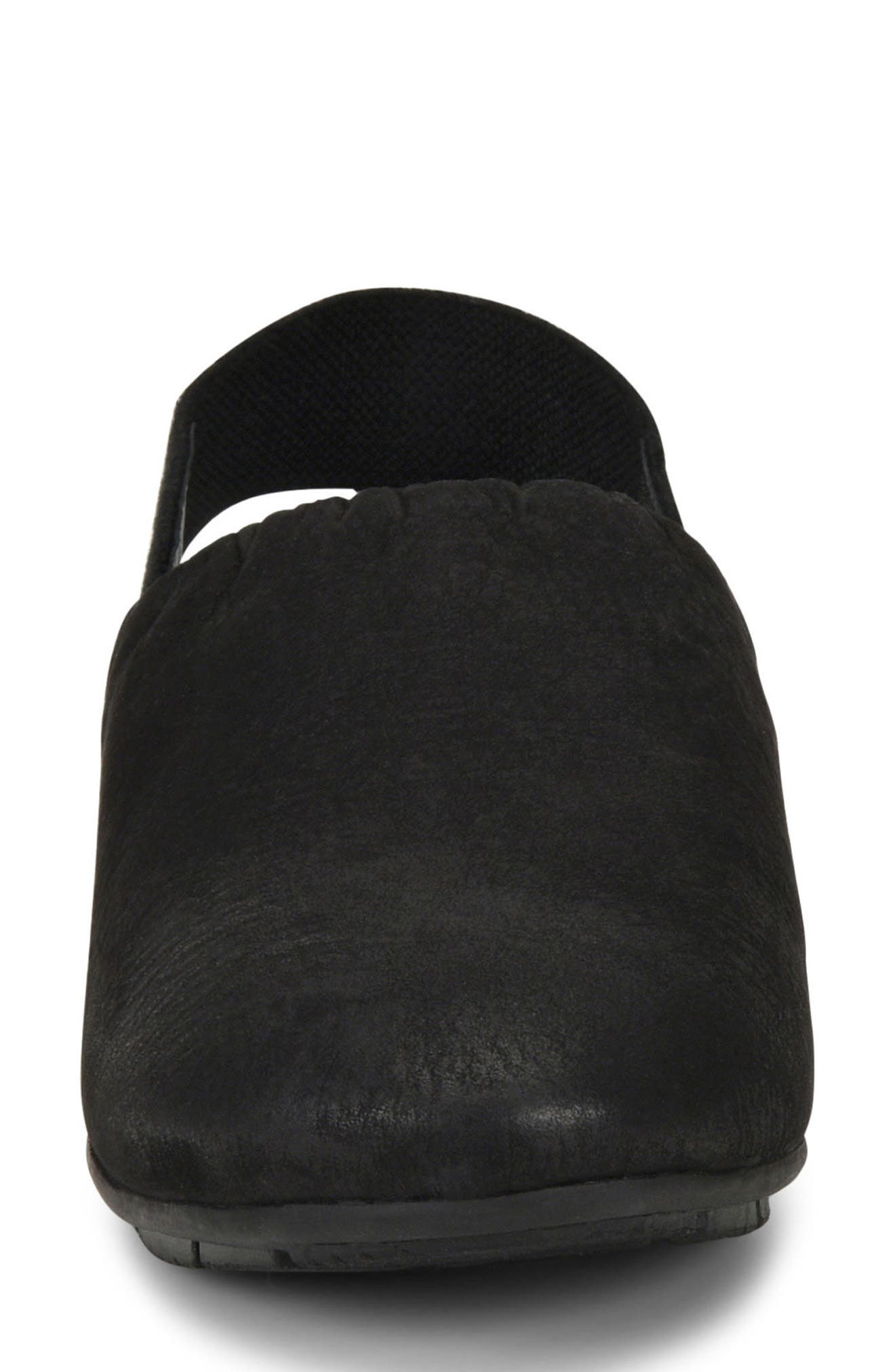 Bowe Slingback Flat,                             Alternate thumbnail 4, color,                             Black Nubuck