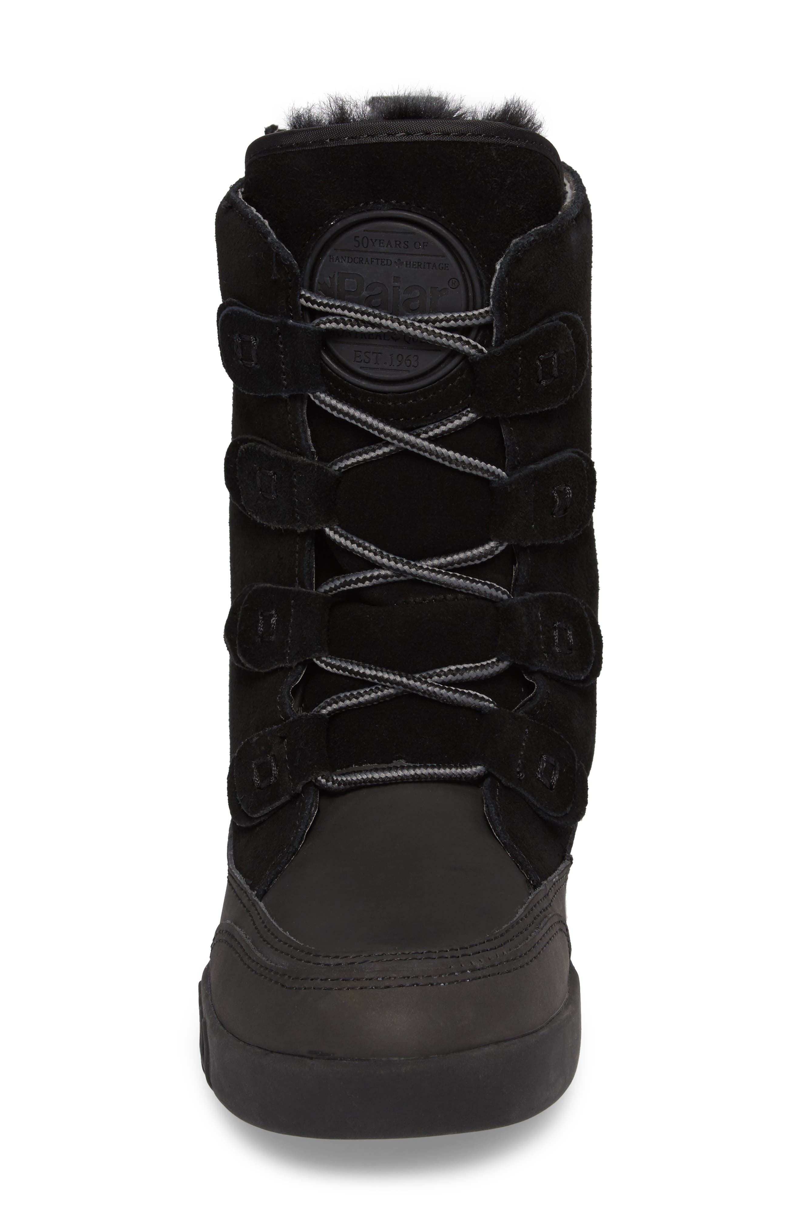 Pamina Insulated Waterproof Boot,                             Alternate thumbnail 4, color,                             Black