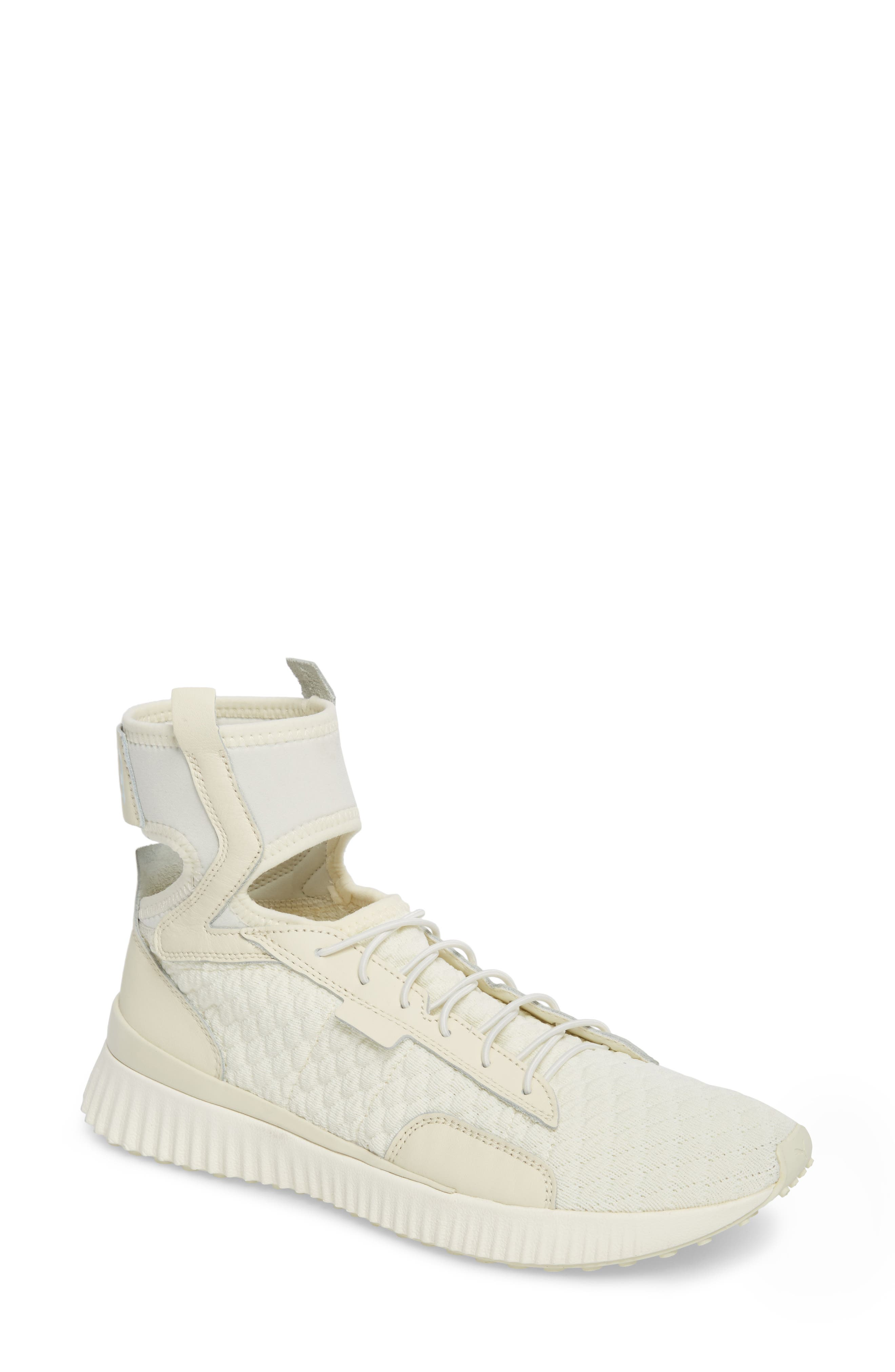 FENTY PUMA by Rihanna High Top Sneaker,                             Main thumbnail 1, color,                             Vanilla Ice/ Sterling Blue