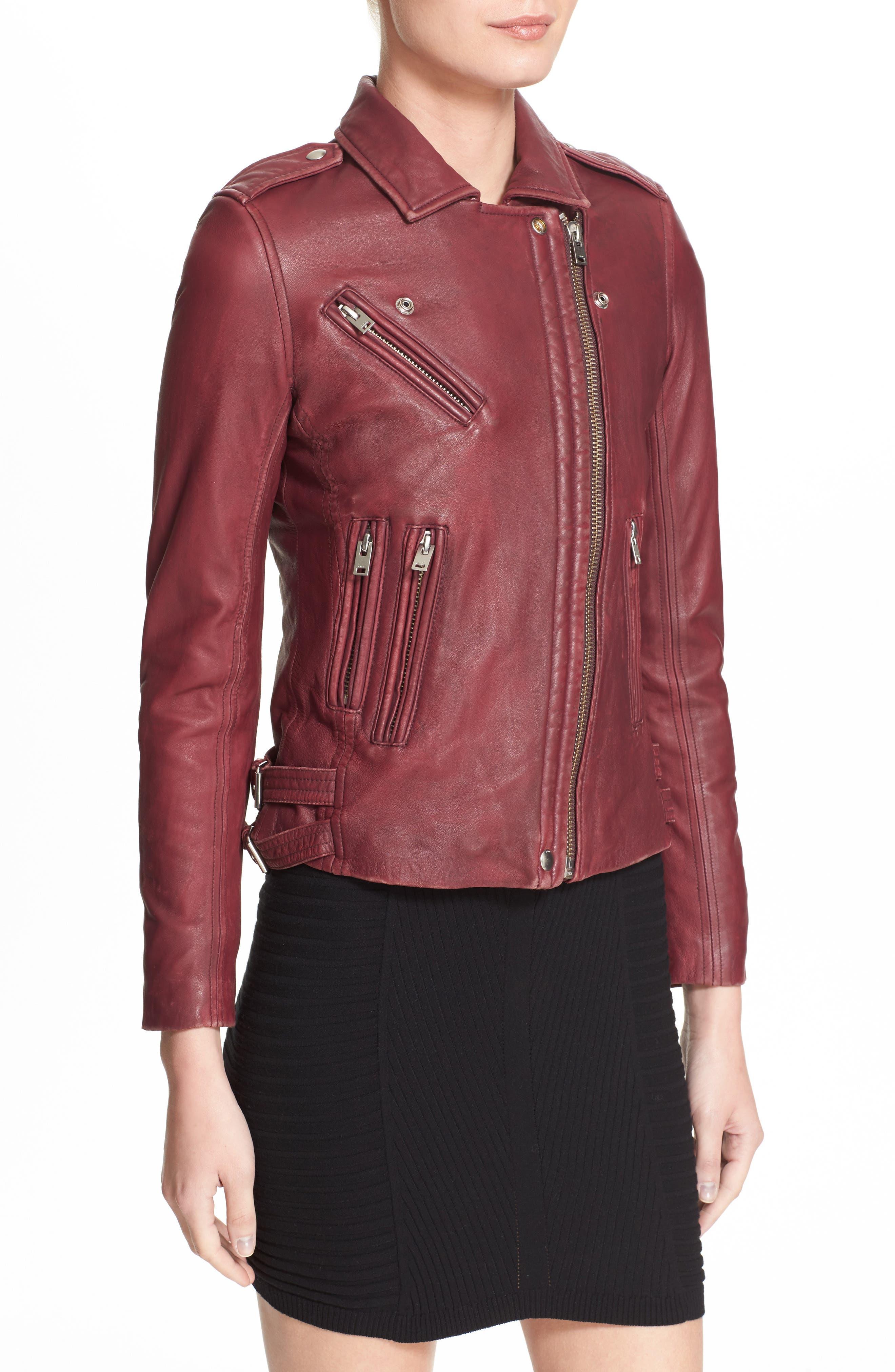 Alternate Image 3  - IRO Leather Moto Jacket