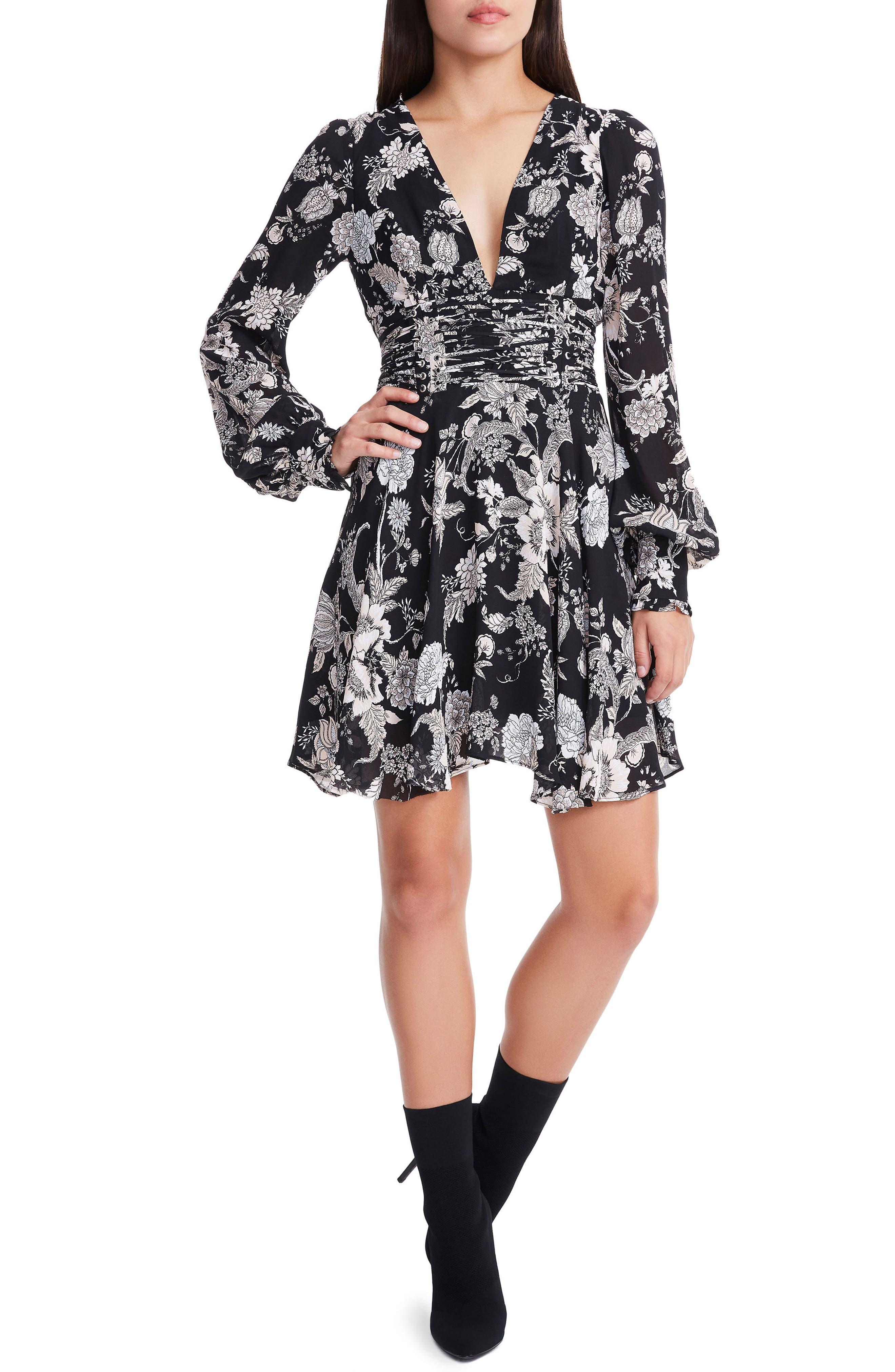 Main Image - AFRM Hana Lantern Sleeve Minidress