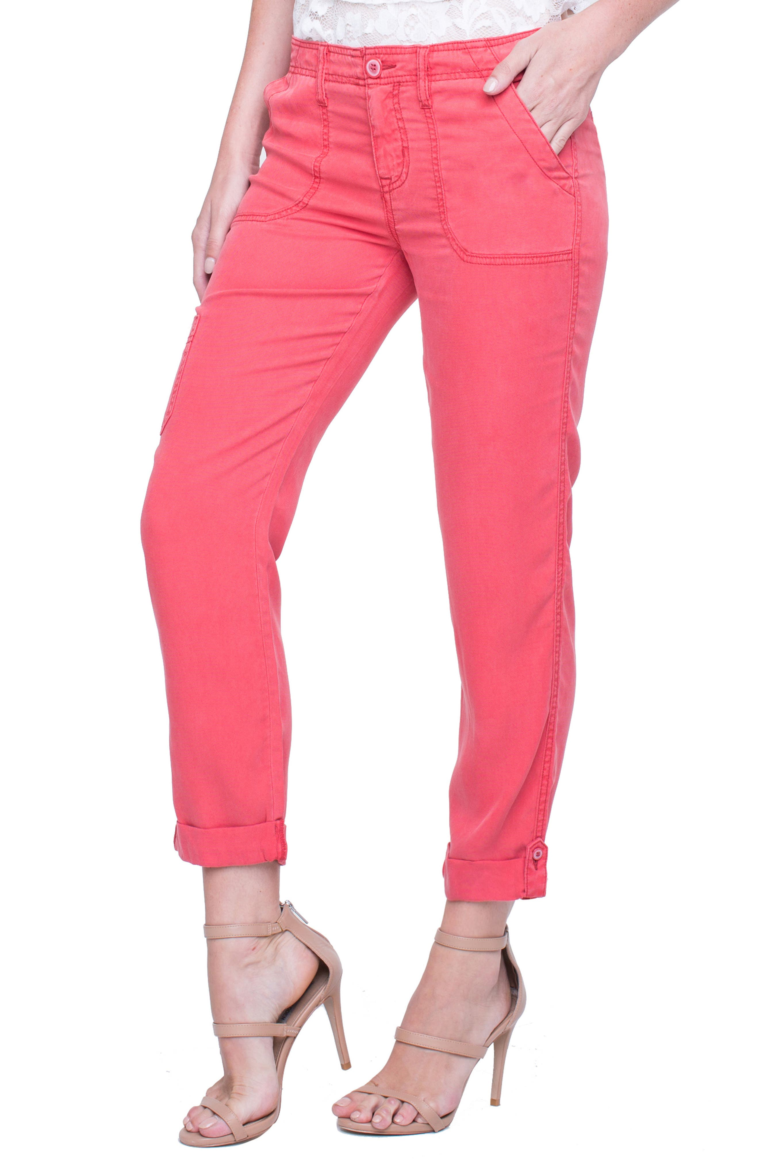 Main Image - Liverpool Jeans Company Cargo Rolled Cuff Pants