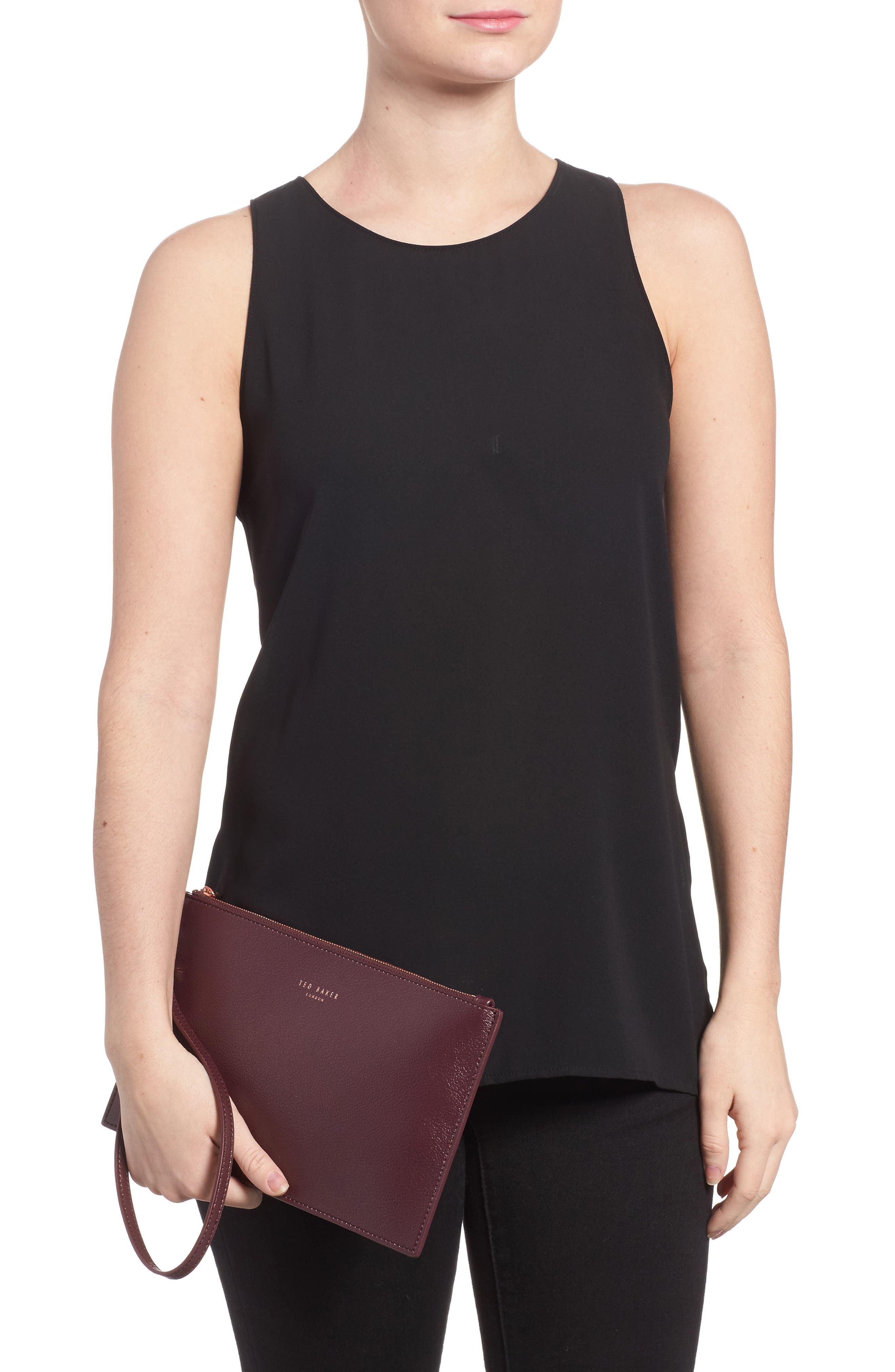 Alternate Image 2  - Ted Baker London Top Zip Faux Leather Pouch