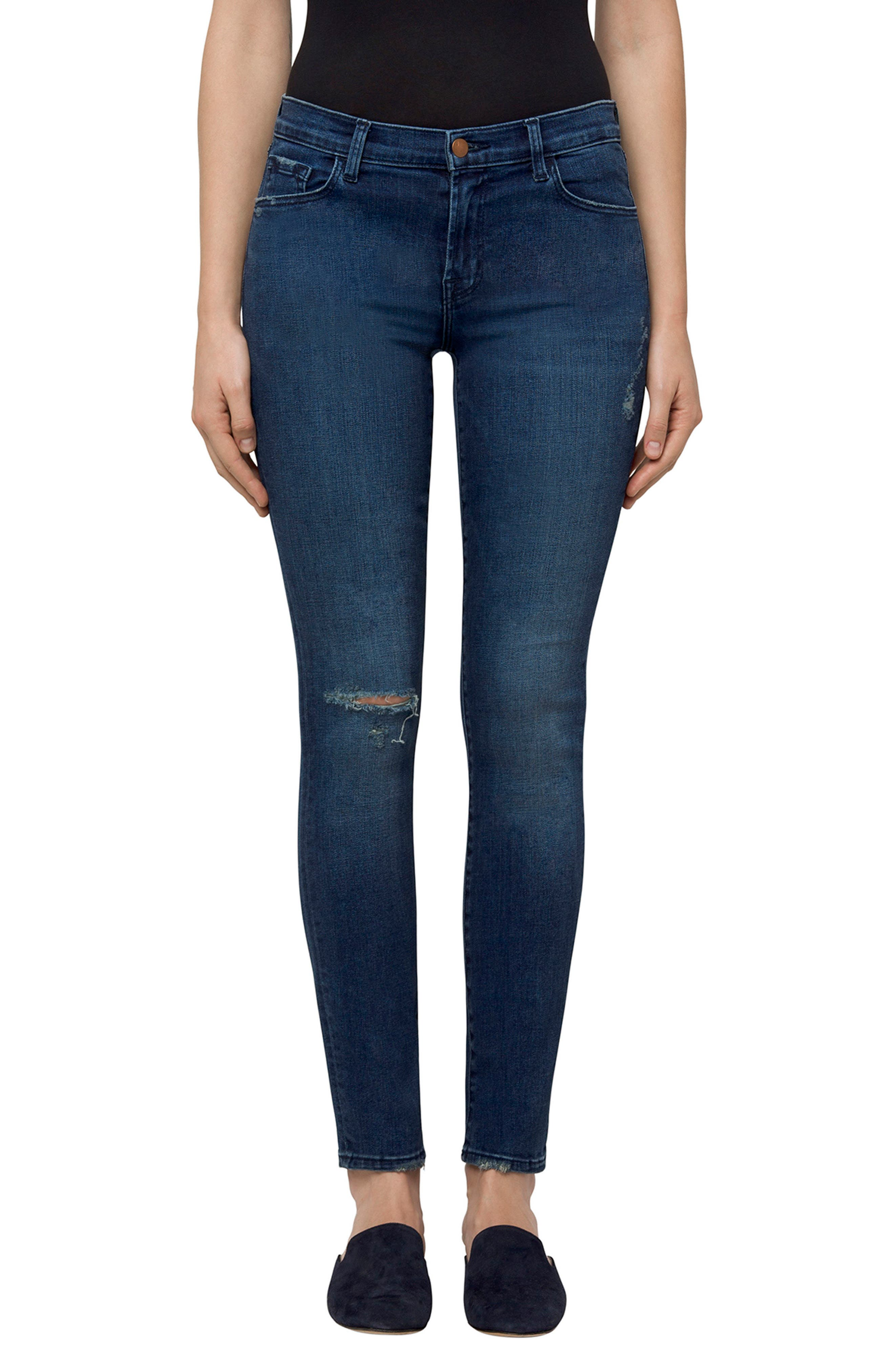 811 Skinny Jeans,                             Main thumbnail 1, color,                             Swift Destruct