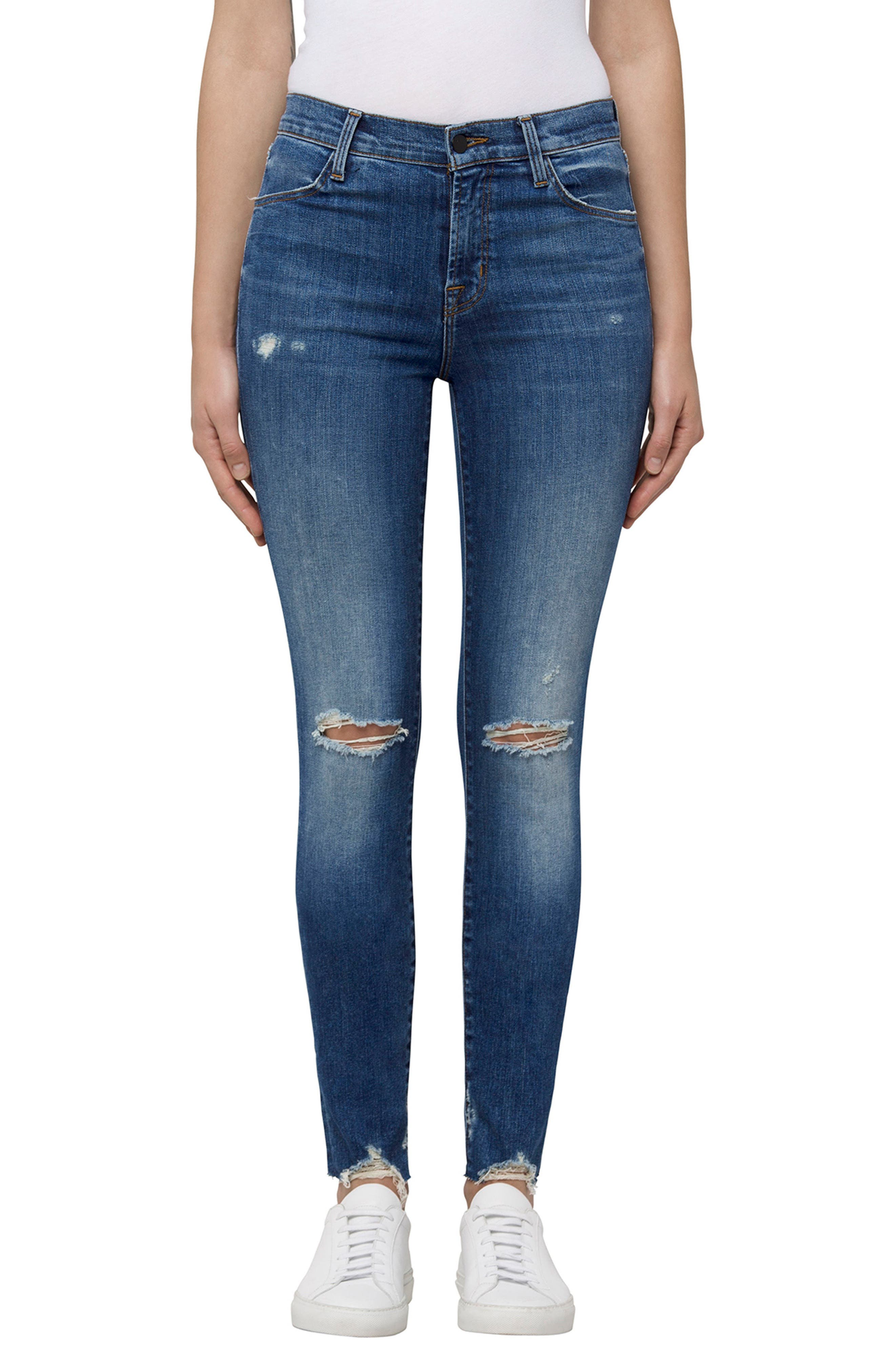 Maria High Waist Skinny Jeans,                             Main thumbnail 1, color,                             Revoke Destruct