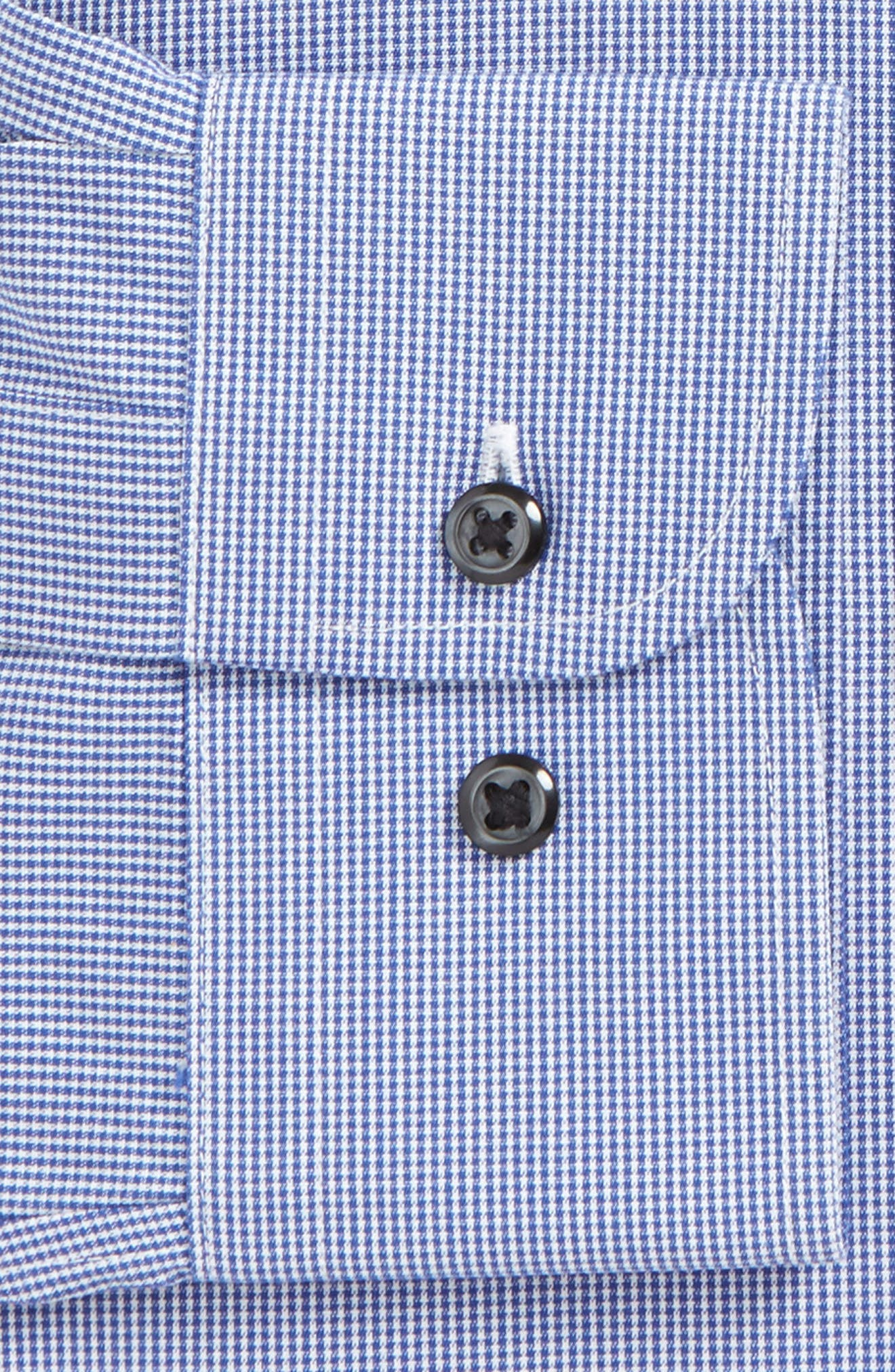 Smartcare<sup>™</sup> Traditional Fit Micro Check Dress Shirt,                             Alternate thumbnail 5, color,                             Blue Marine