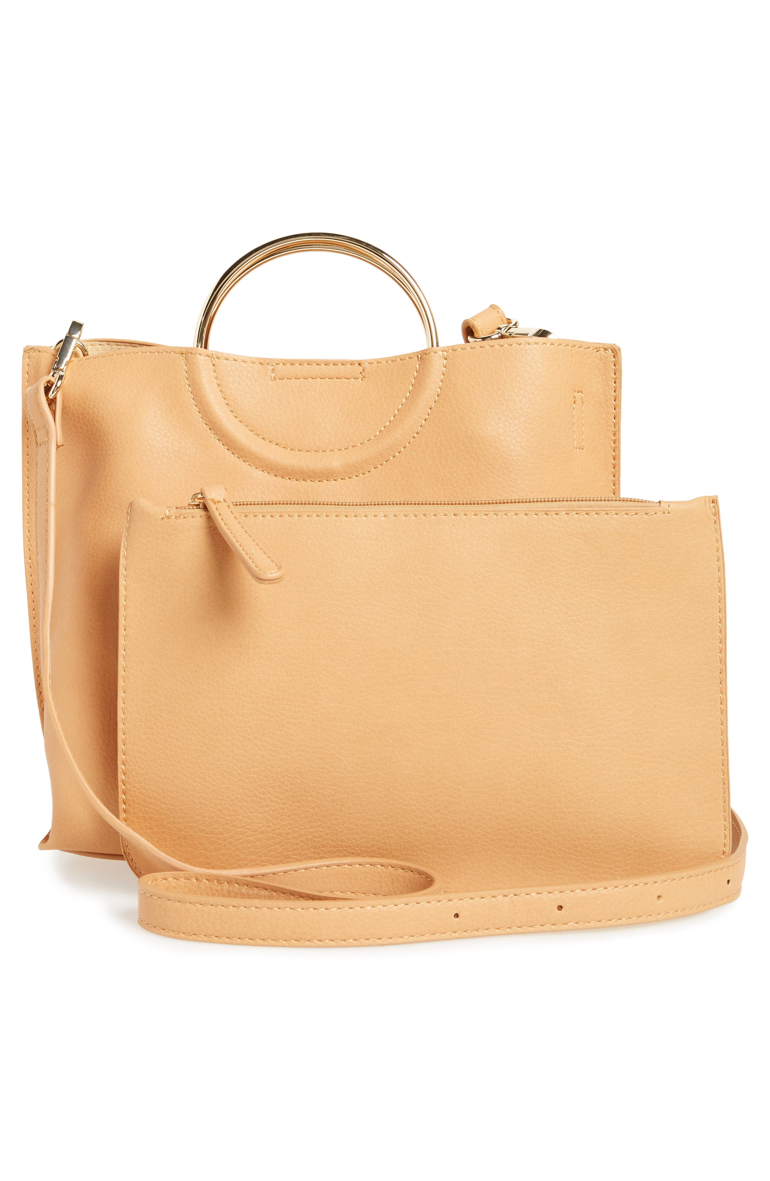 Alternate Image 3  - BP. Metal Handle Faux Leather Crossbody Bag