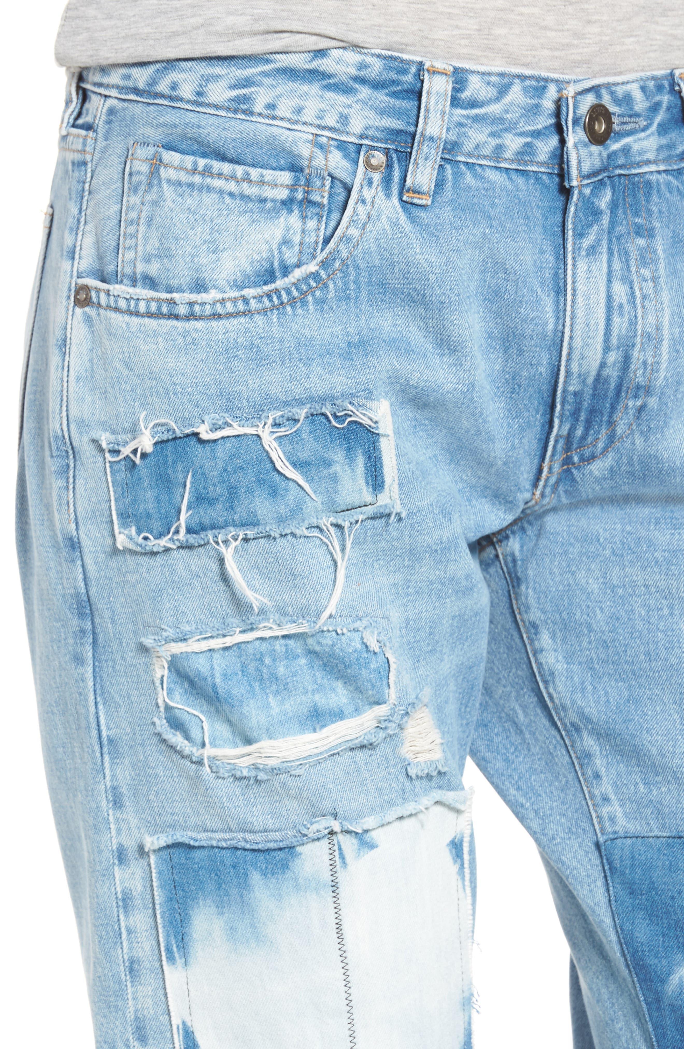Crush Tapered Jeans,                             Alternate thumbnail 4, color,                             Tidal Wave
