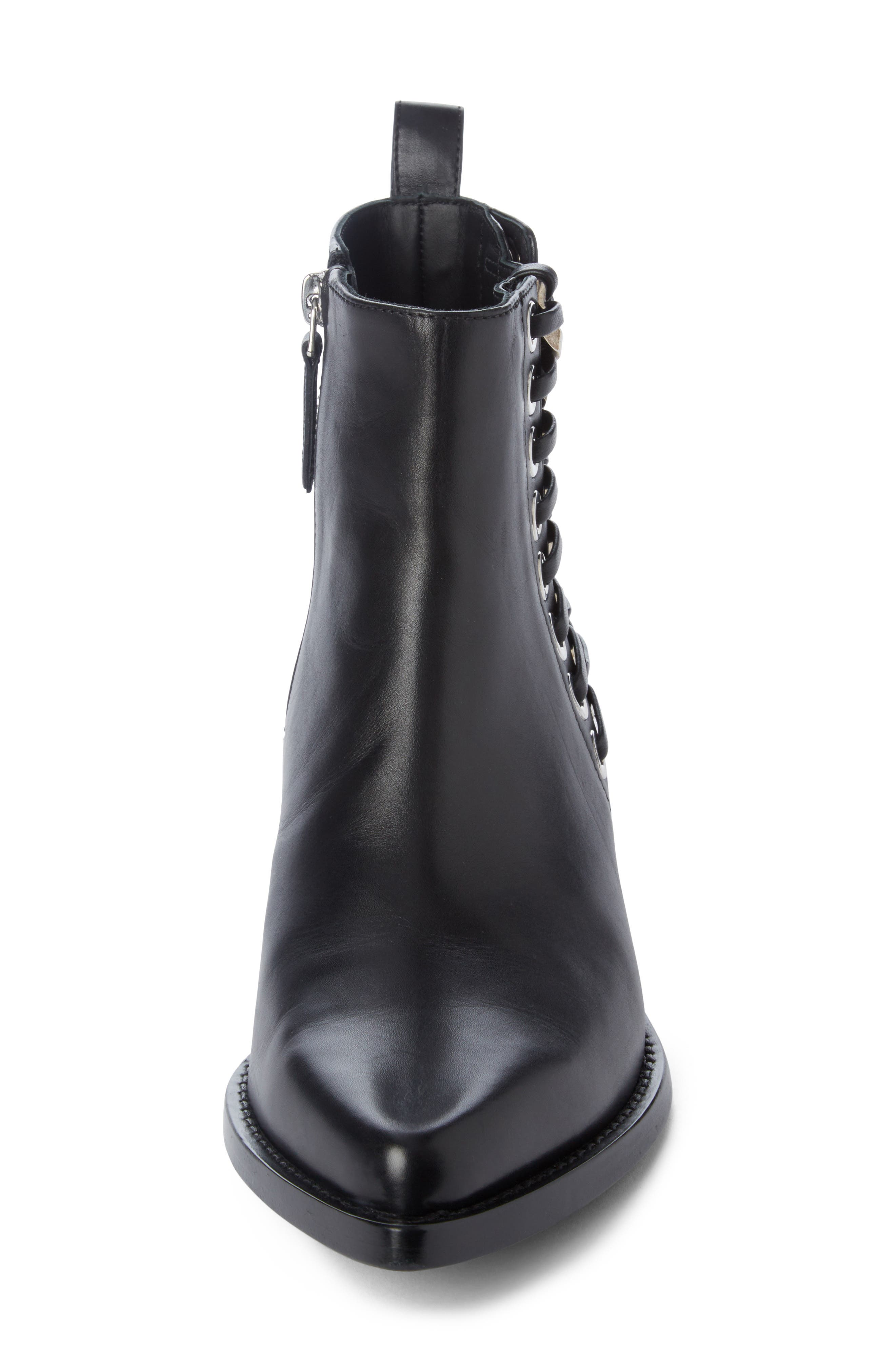 Braided Chain Boot,                             Alternate thumbnail 4, color,                             Black/ Silver
