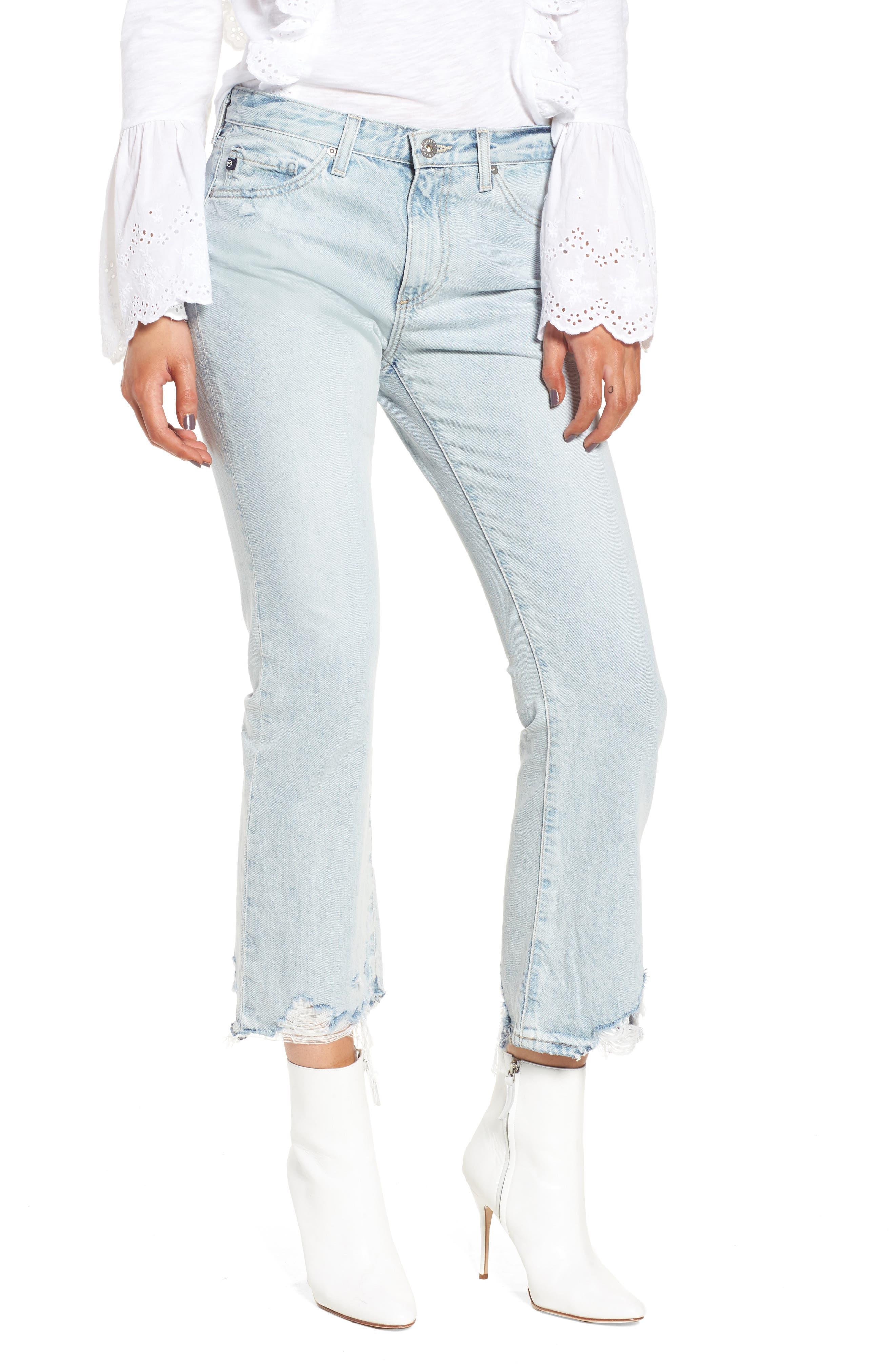 Alternate Image 1 Selected - AG Jeans Jodi Crop Jeans (Bering Wave)