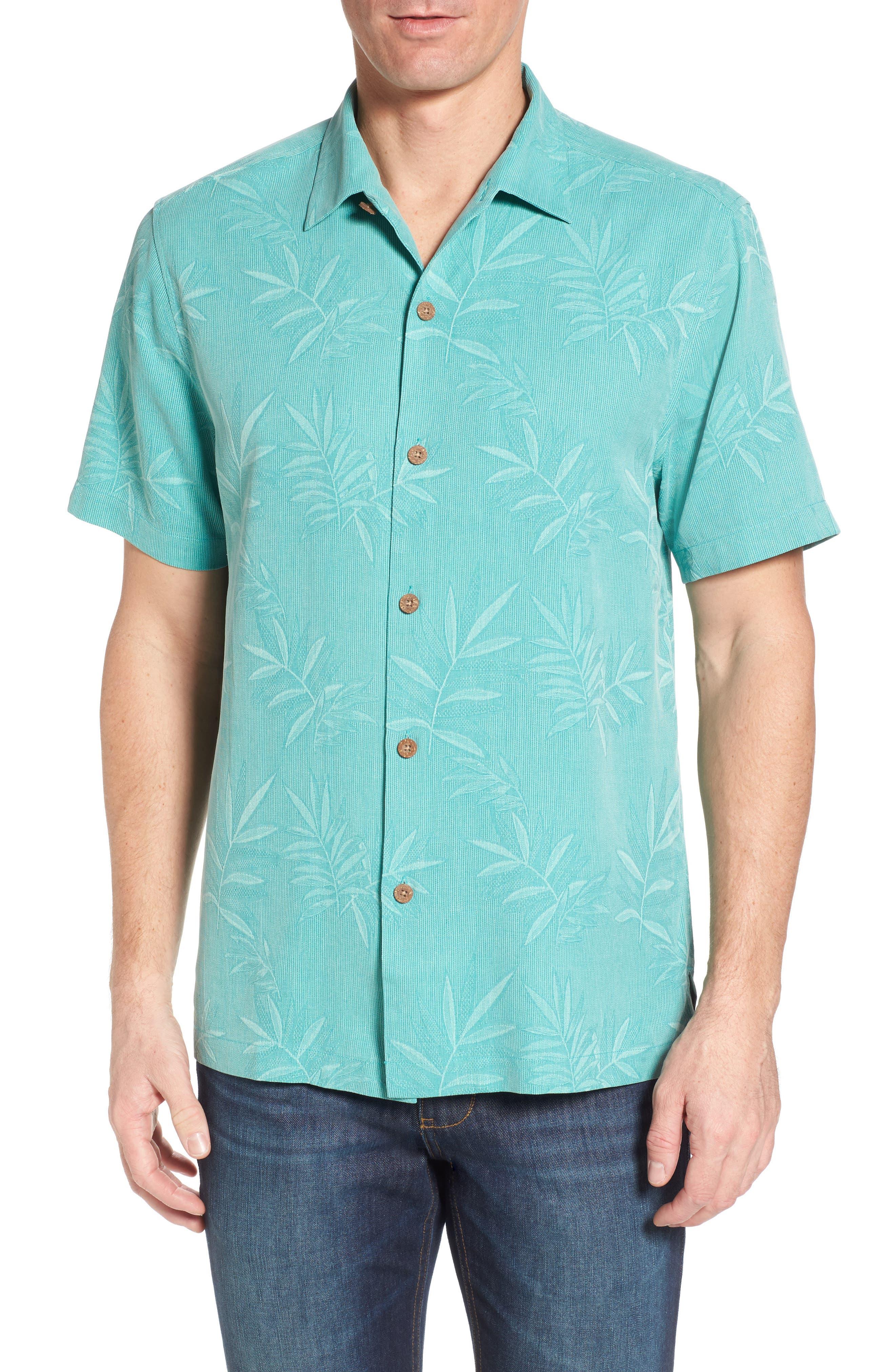 Main Image - Tommy Bahama Luau Floral Silk Shirt