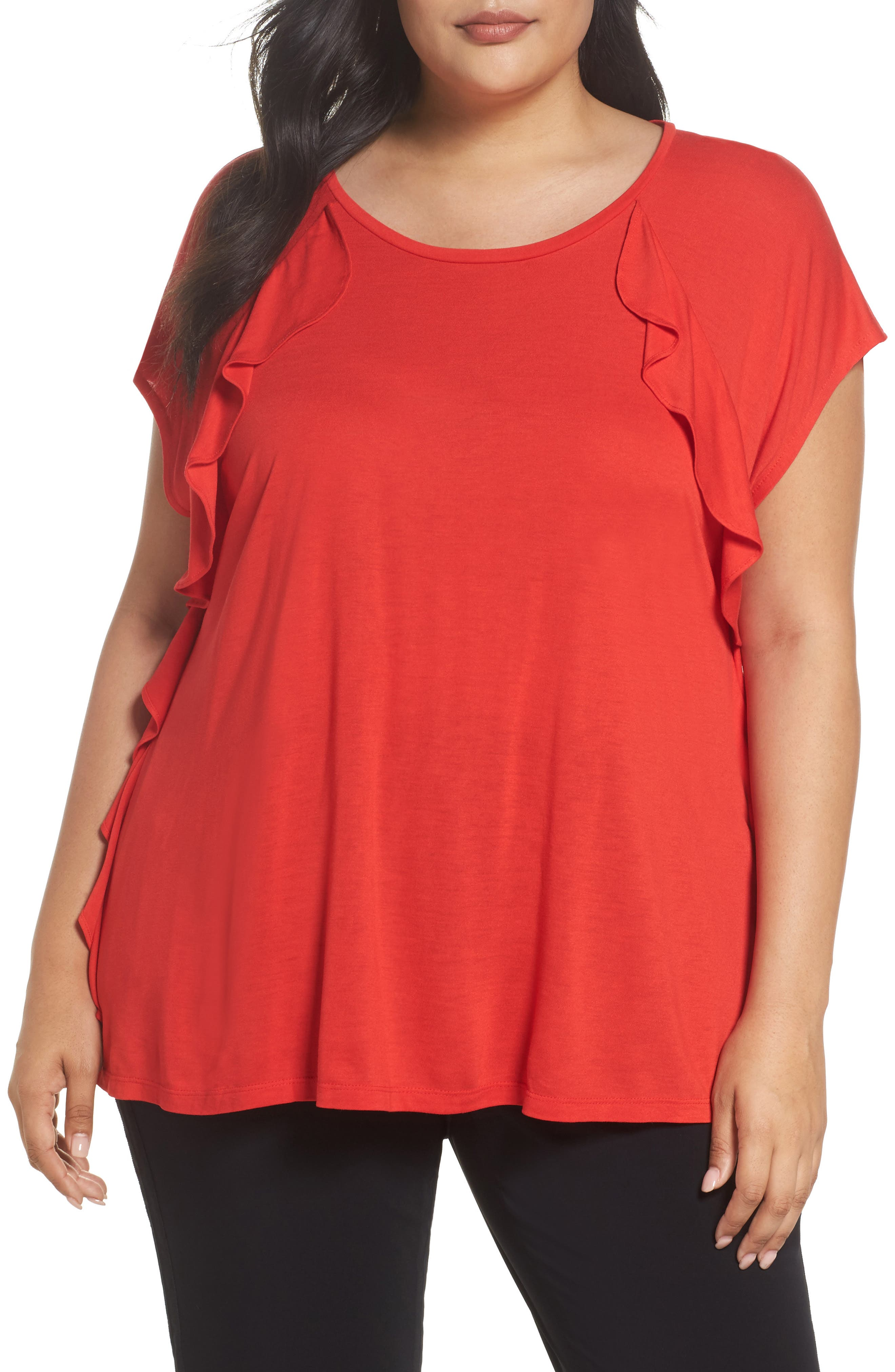 Sejour Ruffle Detail Top (Plus Size)