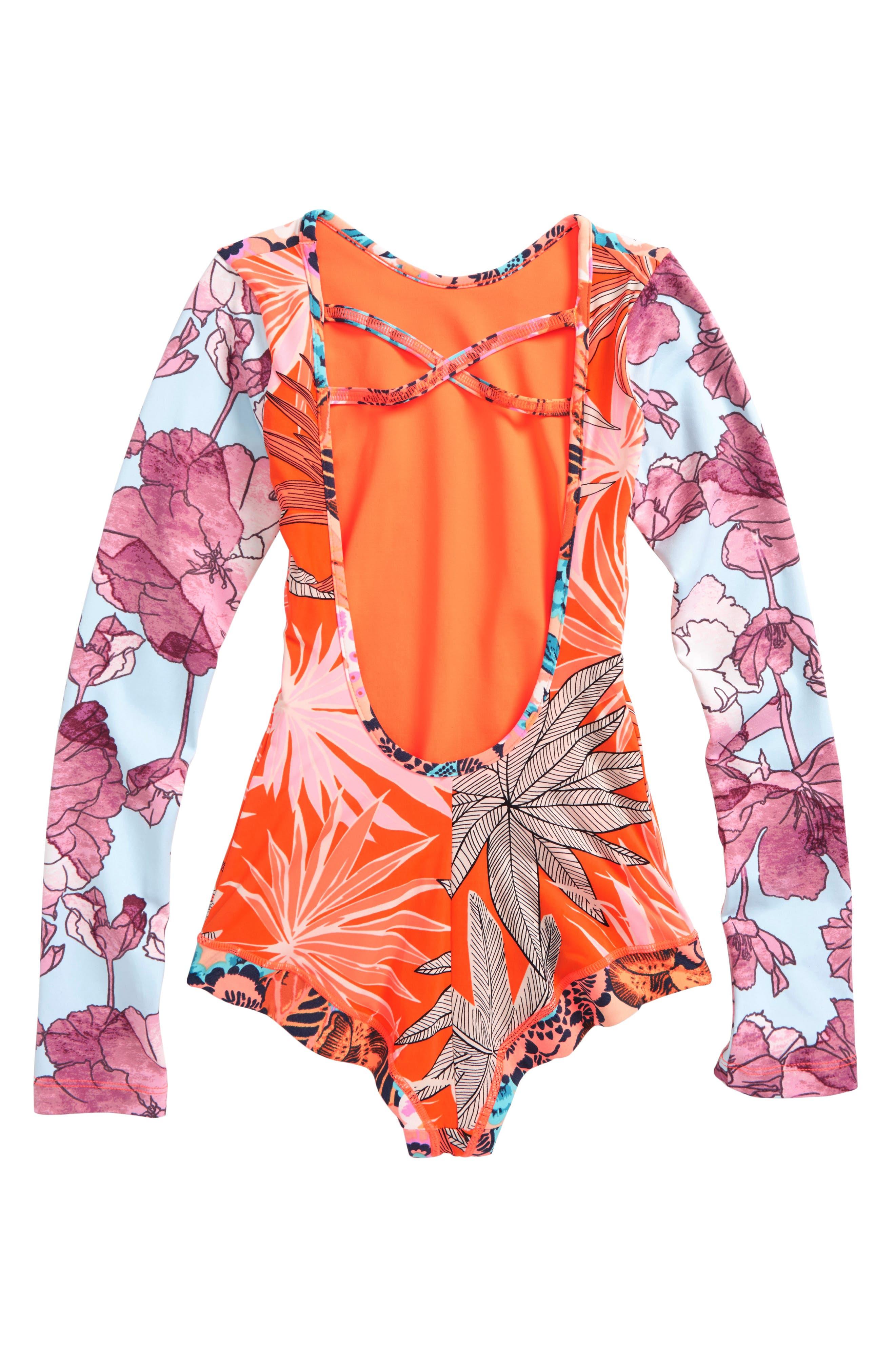 Alternate Image 2  - Maaji Surfie One-Piece Rashguard Swimsuit (Big Girls)