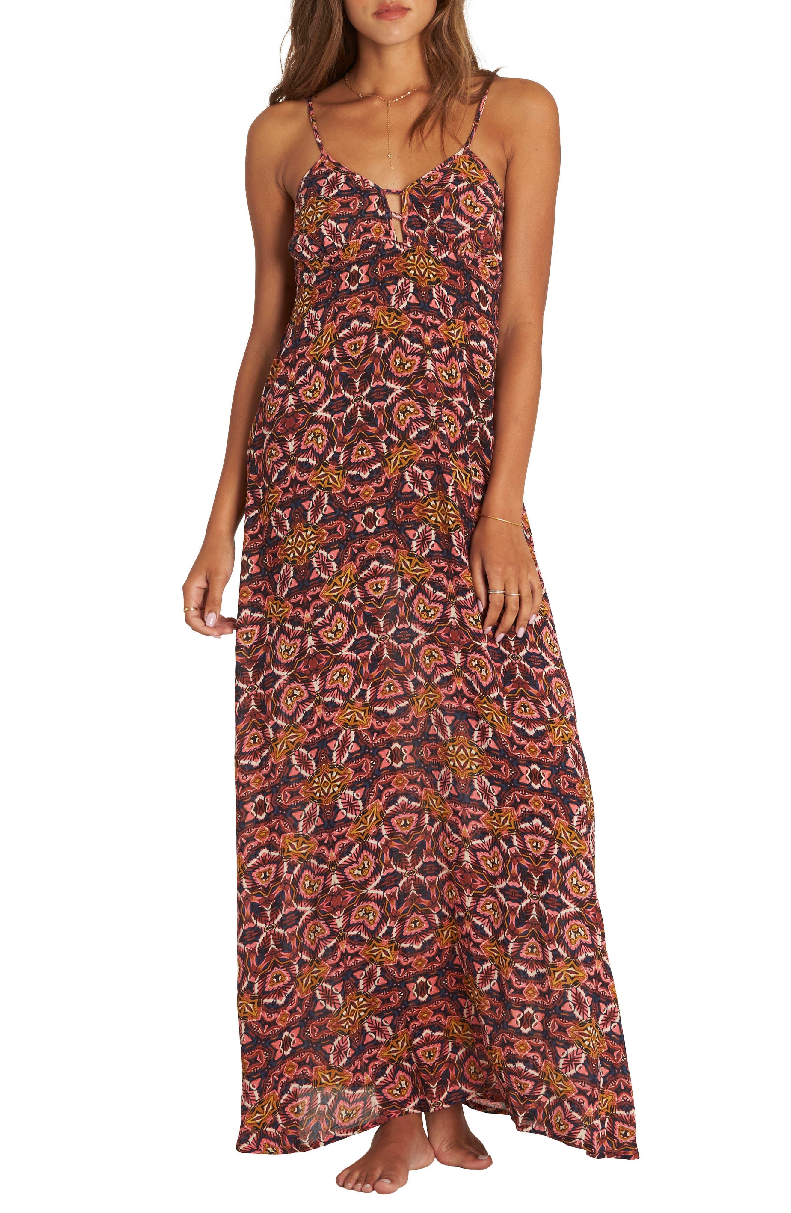 Sky On Fire Maxi Dress,                             Main thumbnail 1, color,                             Multi