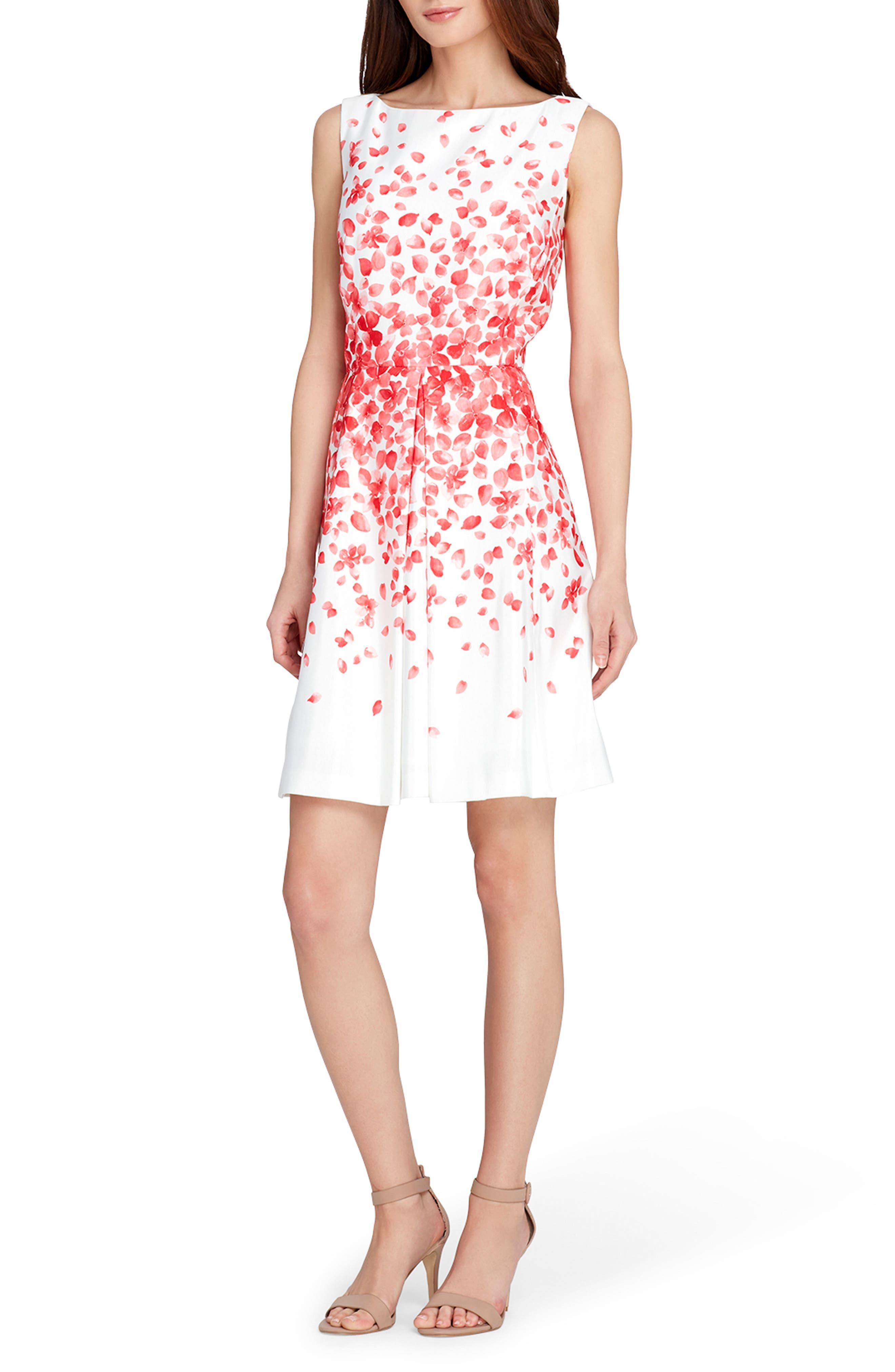 Tahari Print Fit & Flare Dress