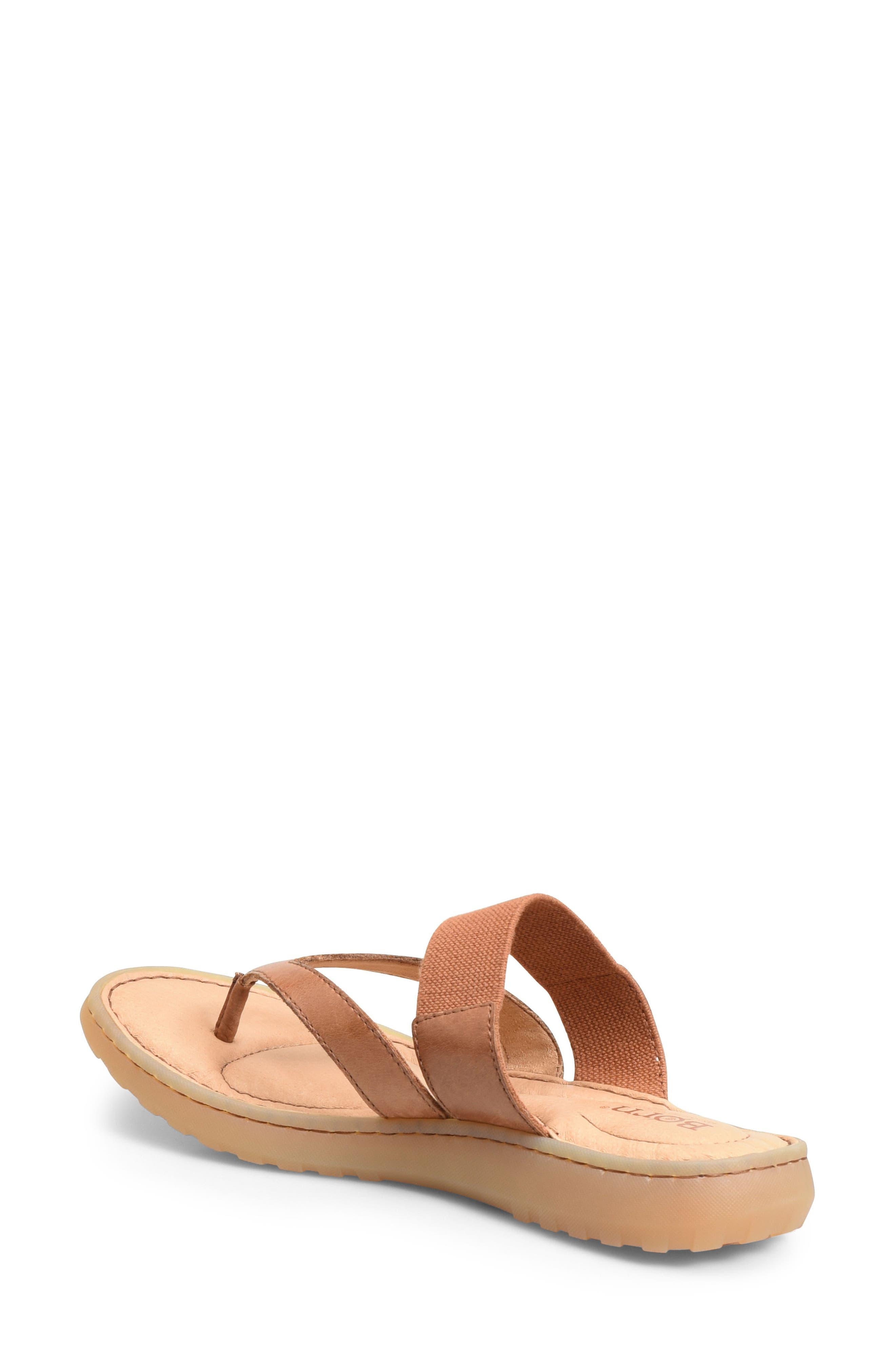 Nevis Sandal,                             Alternate thumbnail 2, color,                             Brown Leather