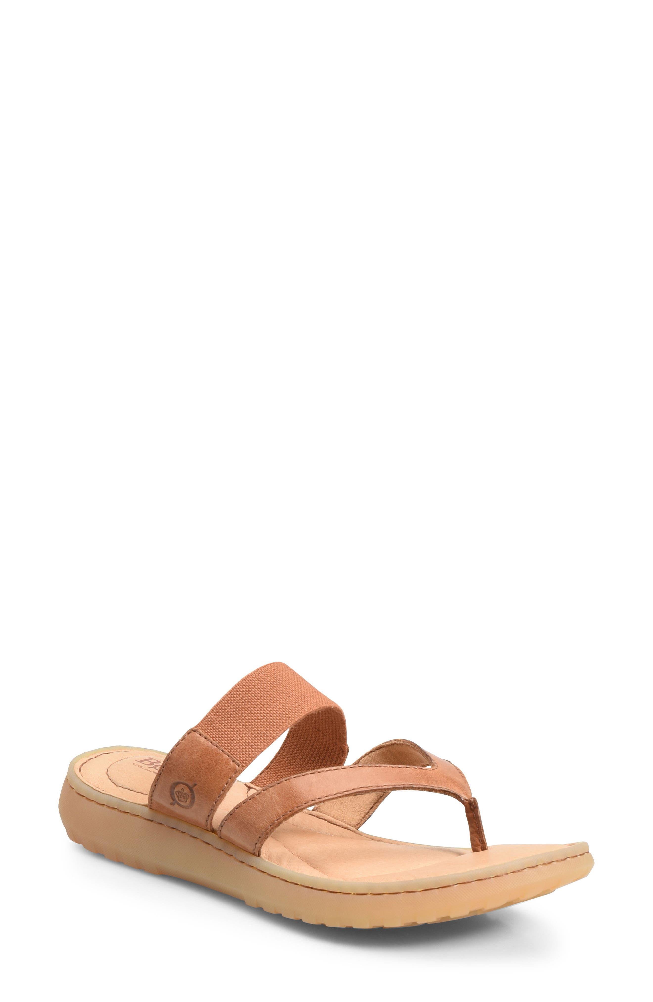 Nevis Sandal,                         Main,                         color, Brown Leather